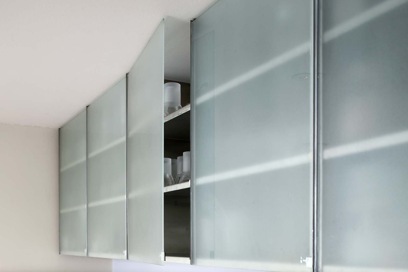 Frameless Glass Cabinet Doors Kitchen