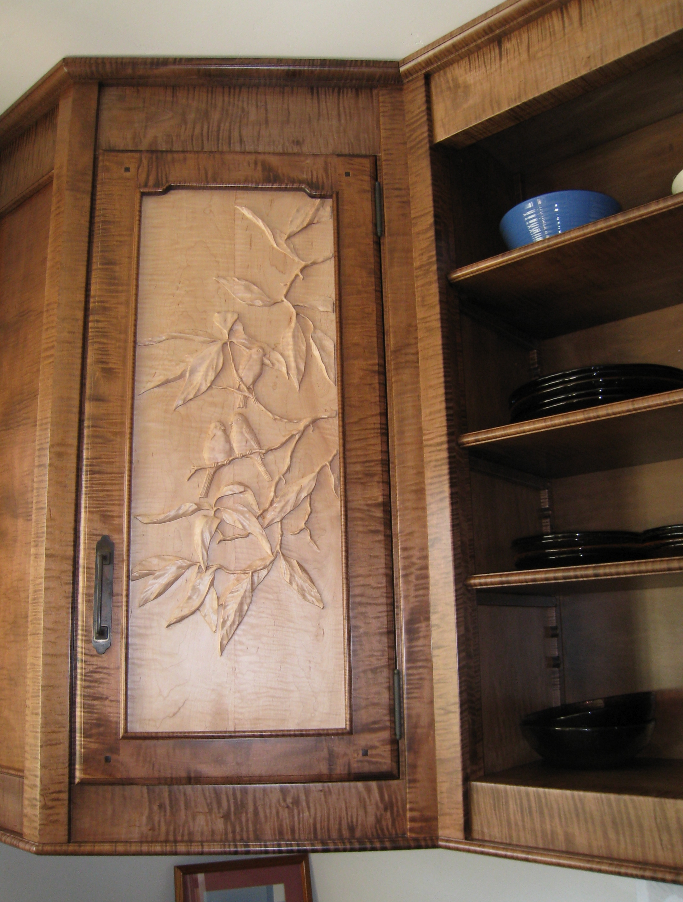 Hand Carved Kitchen Cabinet Doors