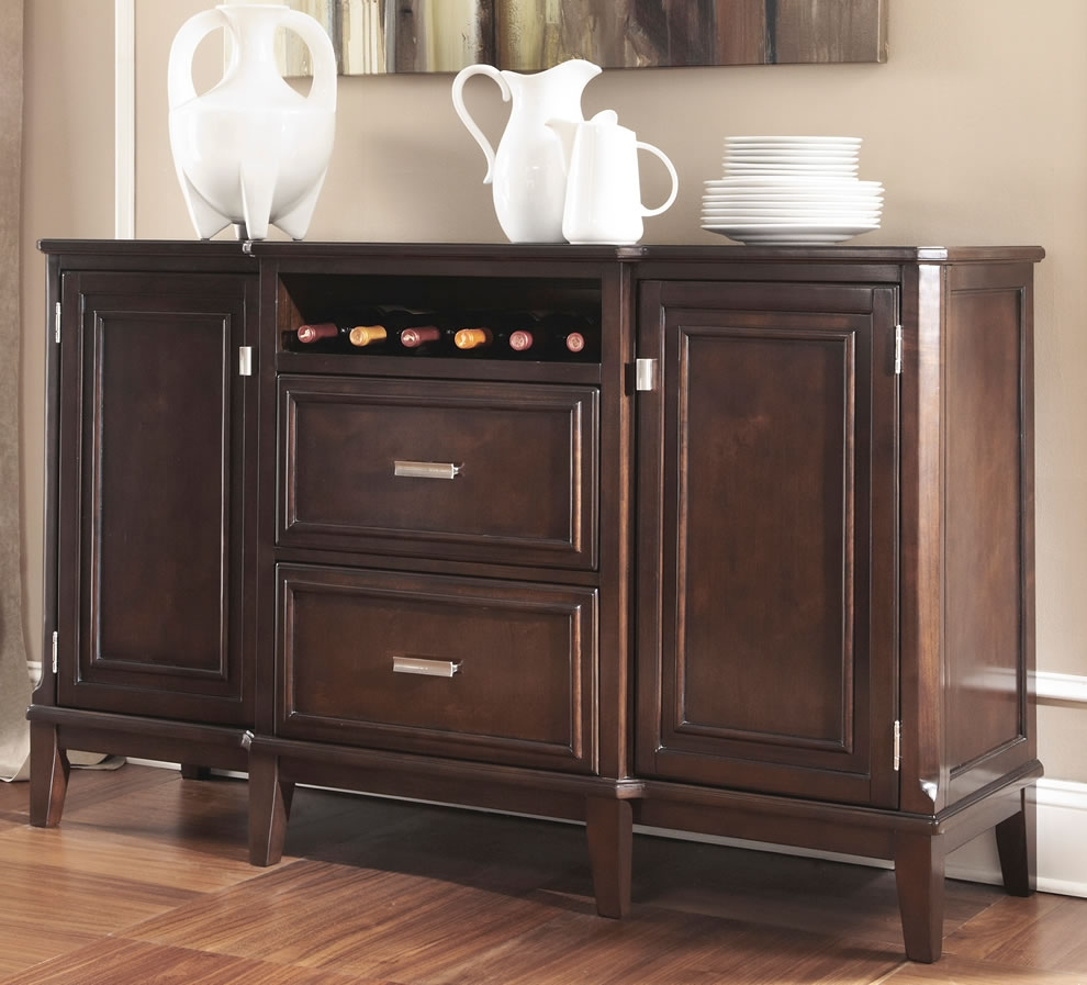Kitchen Buffet Cabinet With Wine Rack