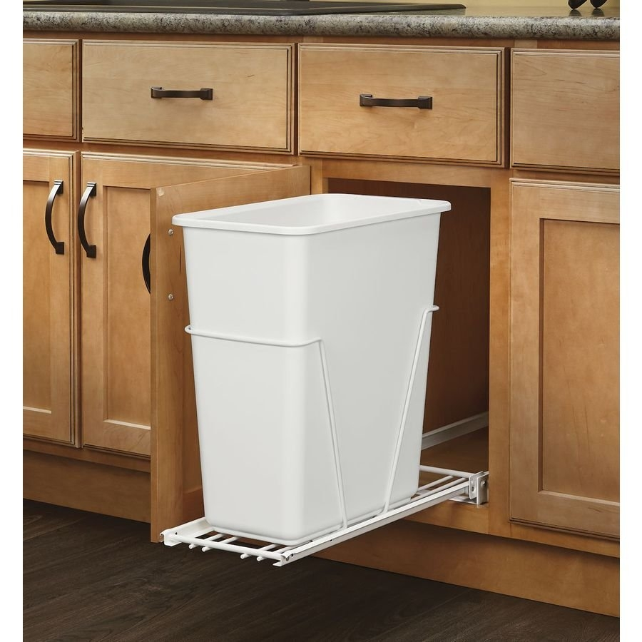 Permalink to Kitchen Cabinet Trash Can Size