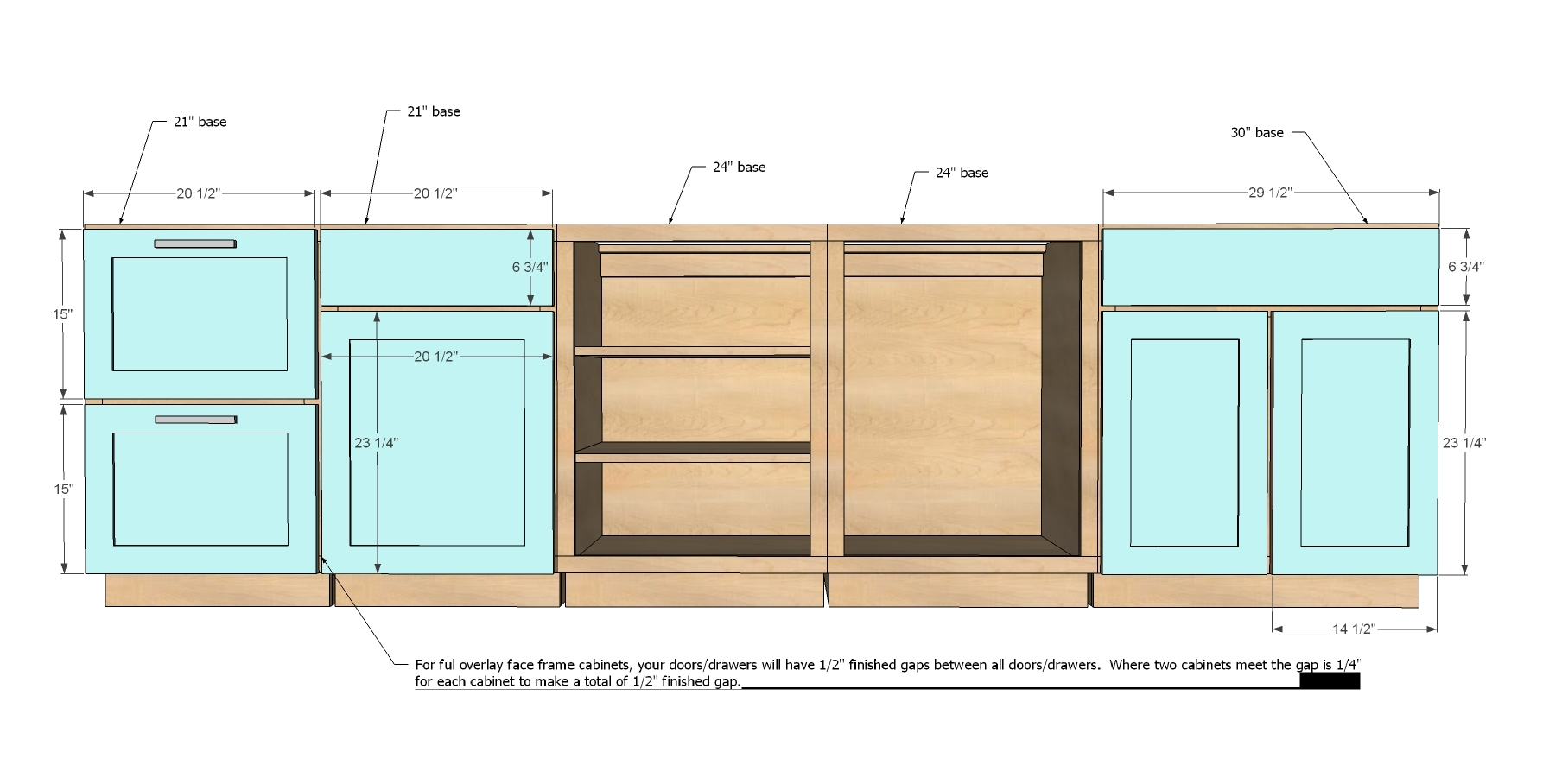Kitchen Cabinets Drawers Size