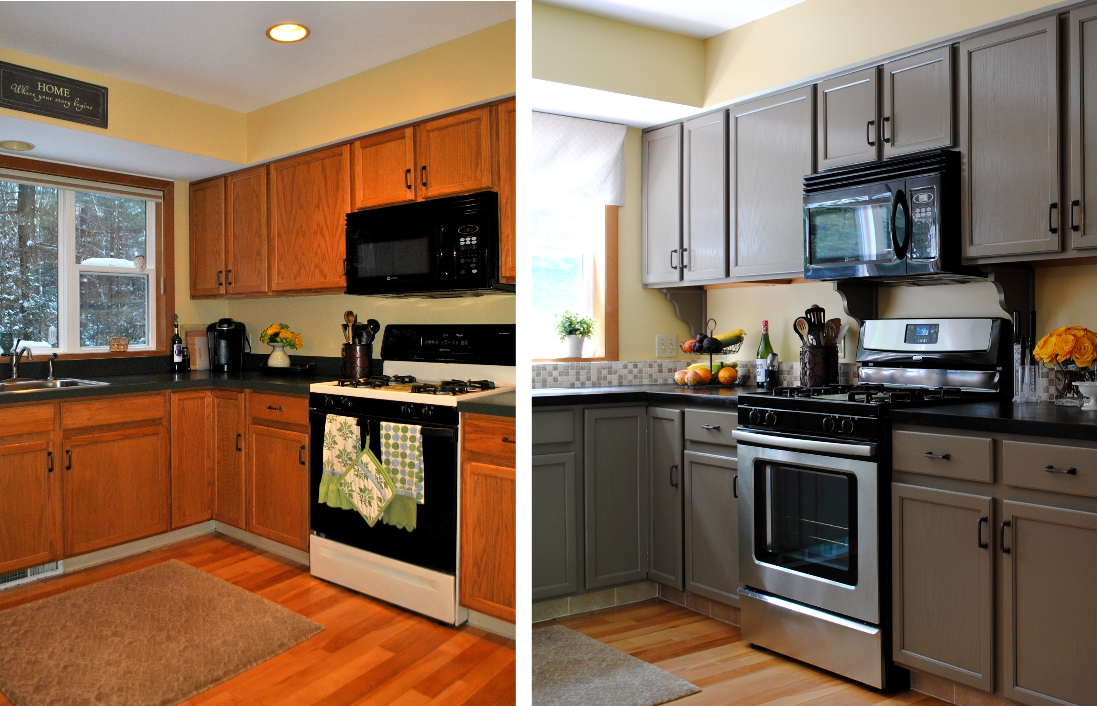 Kitchen Cabinets Makeover Before After