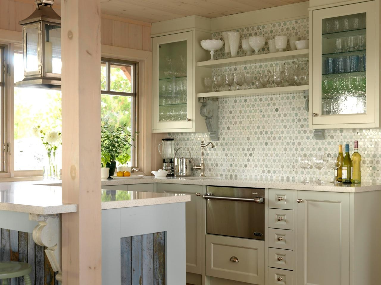Permalink to Kitchen Glass Cabinets Ideas