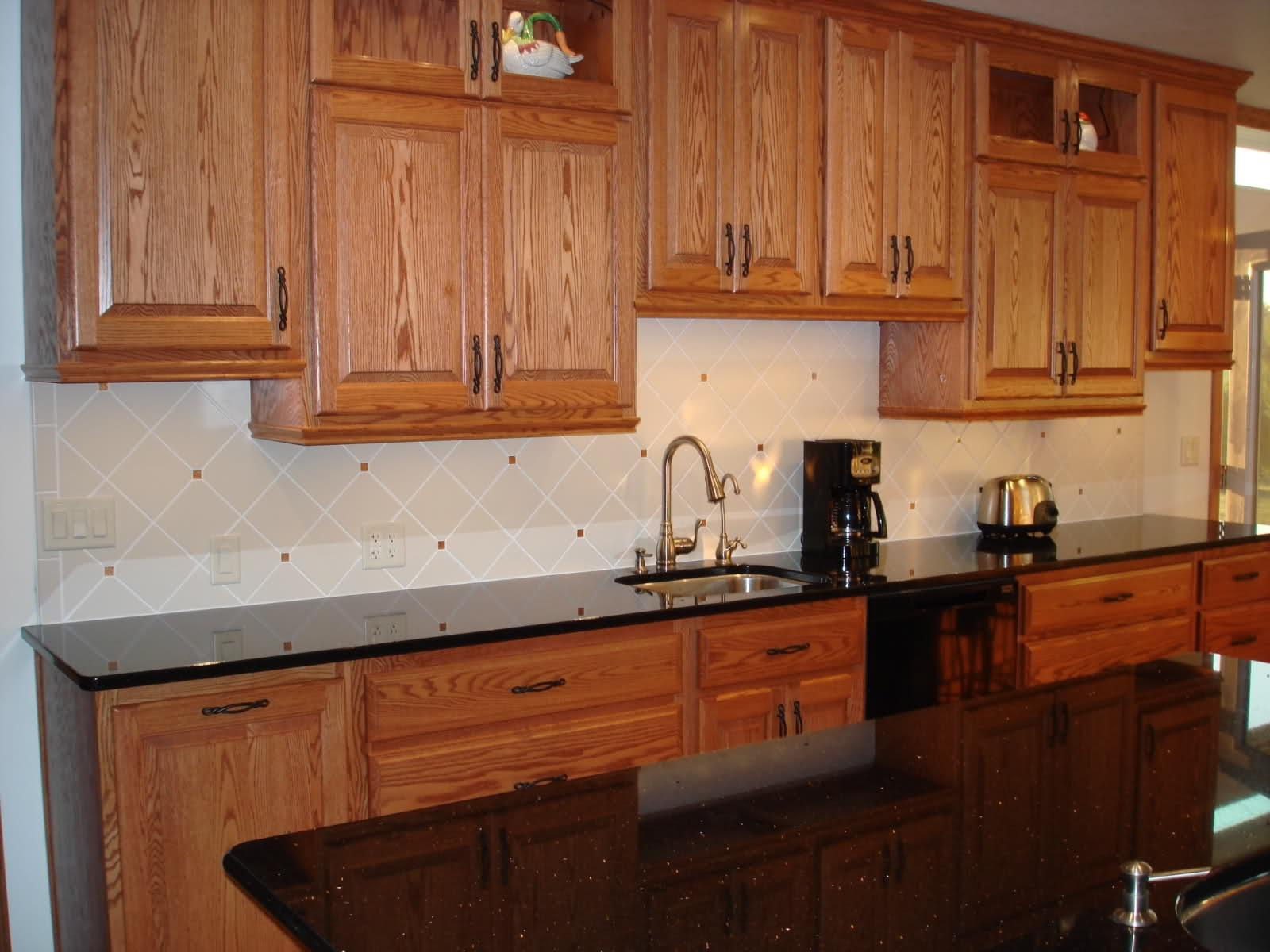 Kitchen Pictures Oak Cabinets Granite