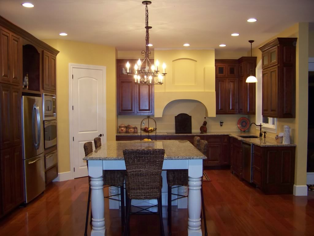 Kitchen Table With Dark Cabinets
