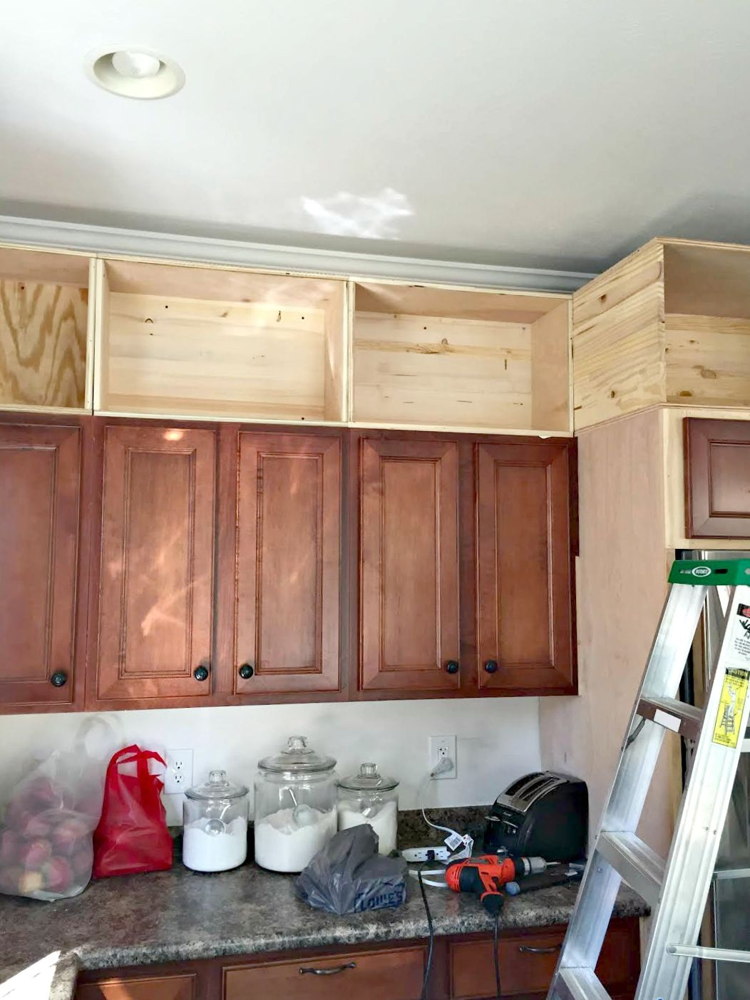 Permalink to Lighted Cabinets Above Kitchen Cabinets