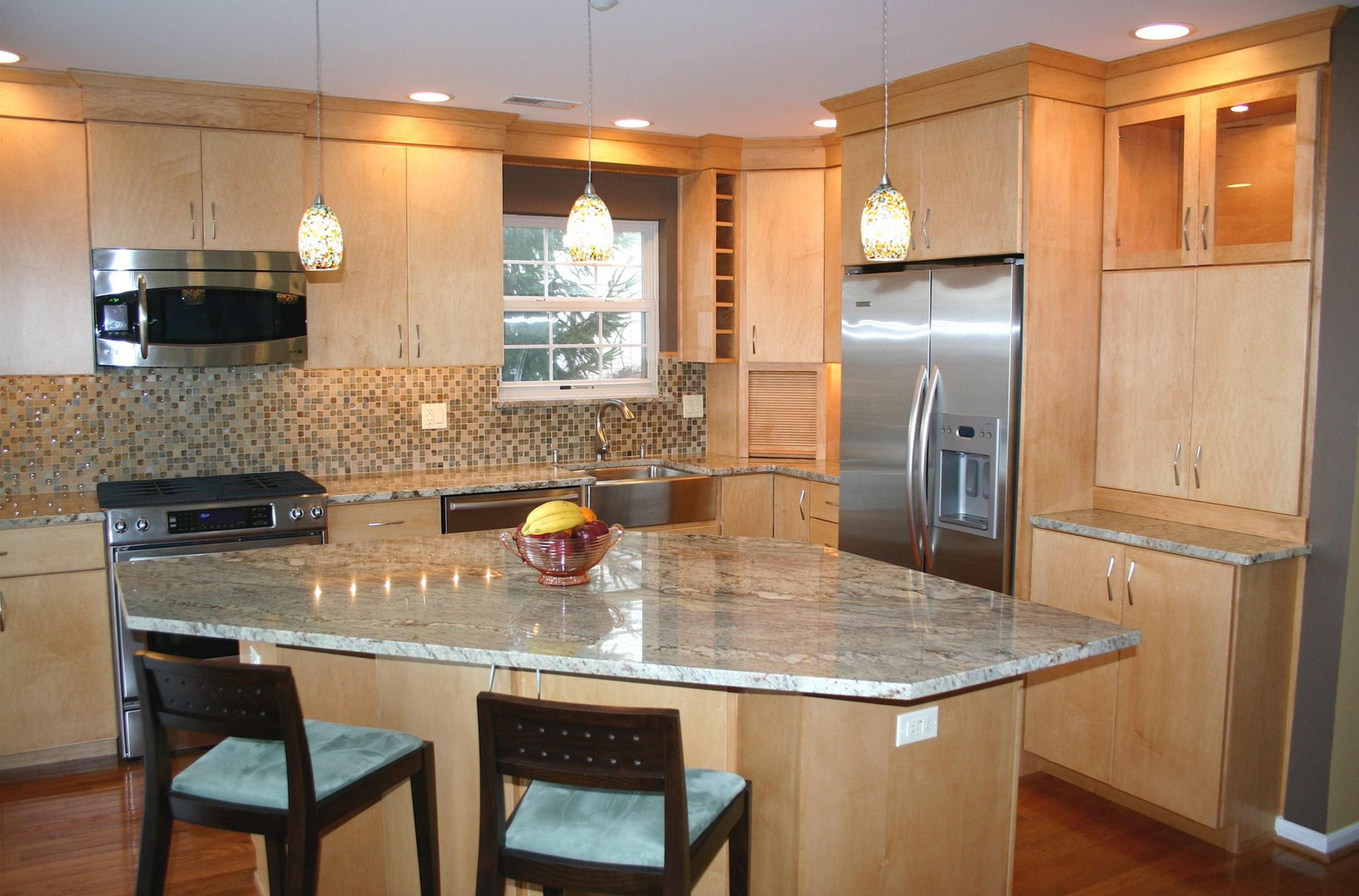 Permalink to Maple Kitchen Cabinets And Granite Countertops