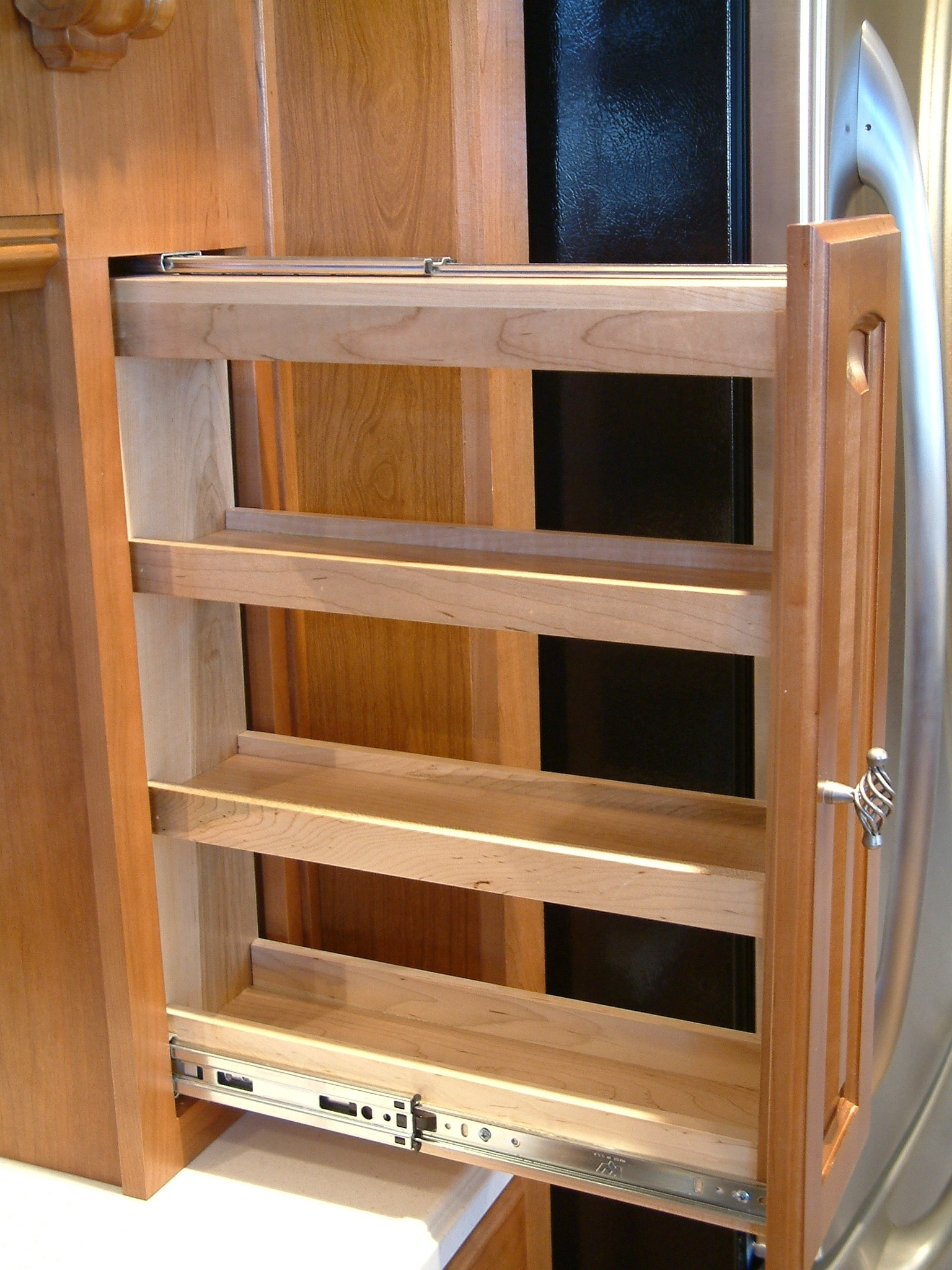 Permalink to Pull Out Spice Racks For Upper Kitchen Cabinets