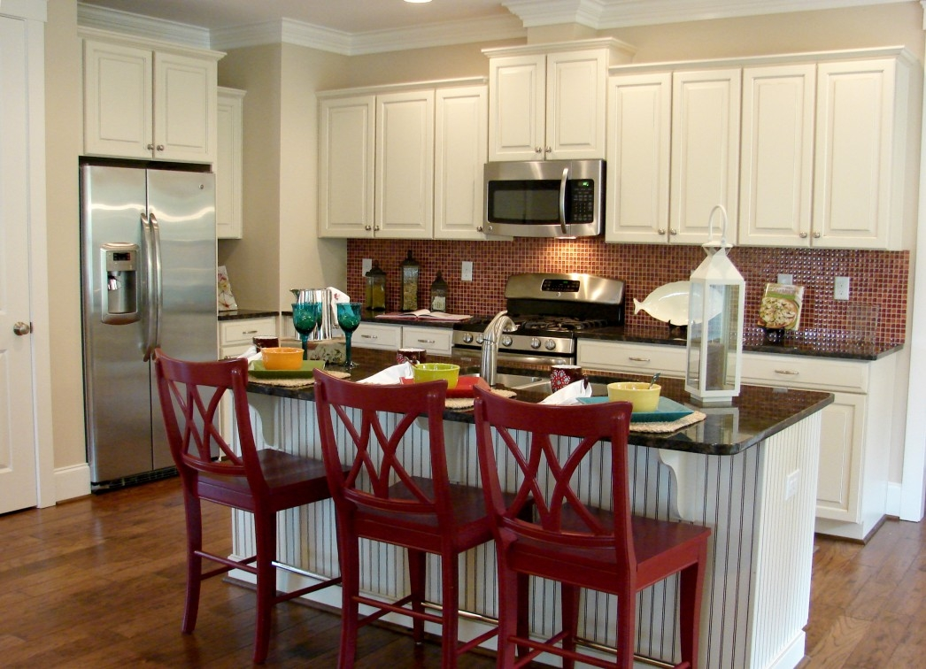 Permalink to Red Accent Kitchen Cabinets