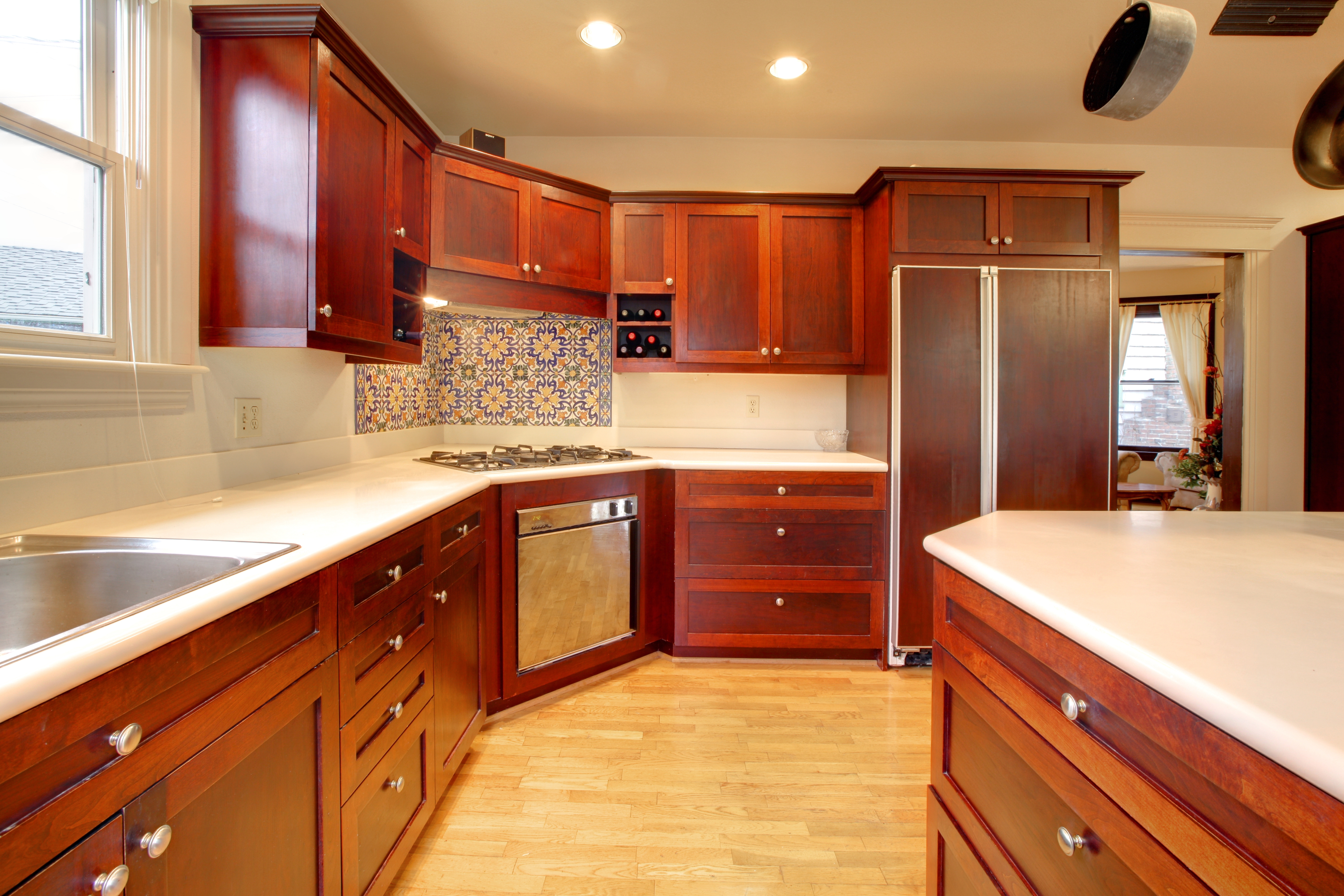 Permalink to Red Mahogany Kitchen Cabinets