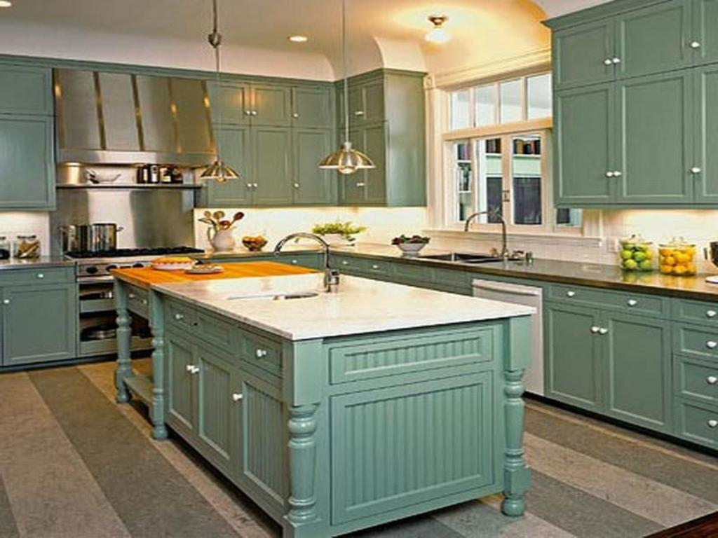 Rustic Teal Kitchen Cabinets1024 X 768