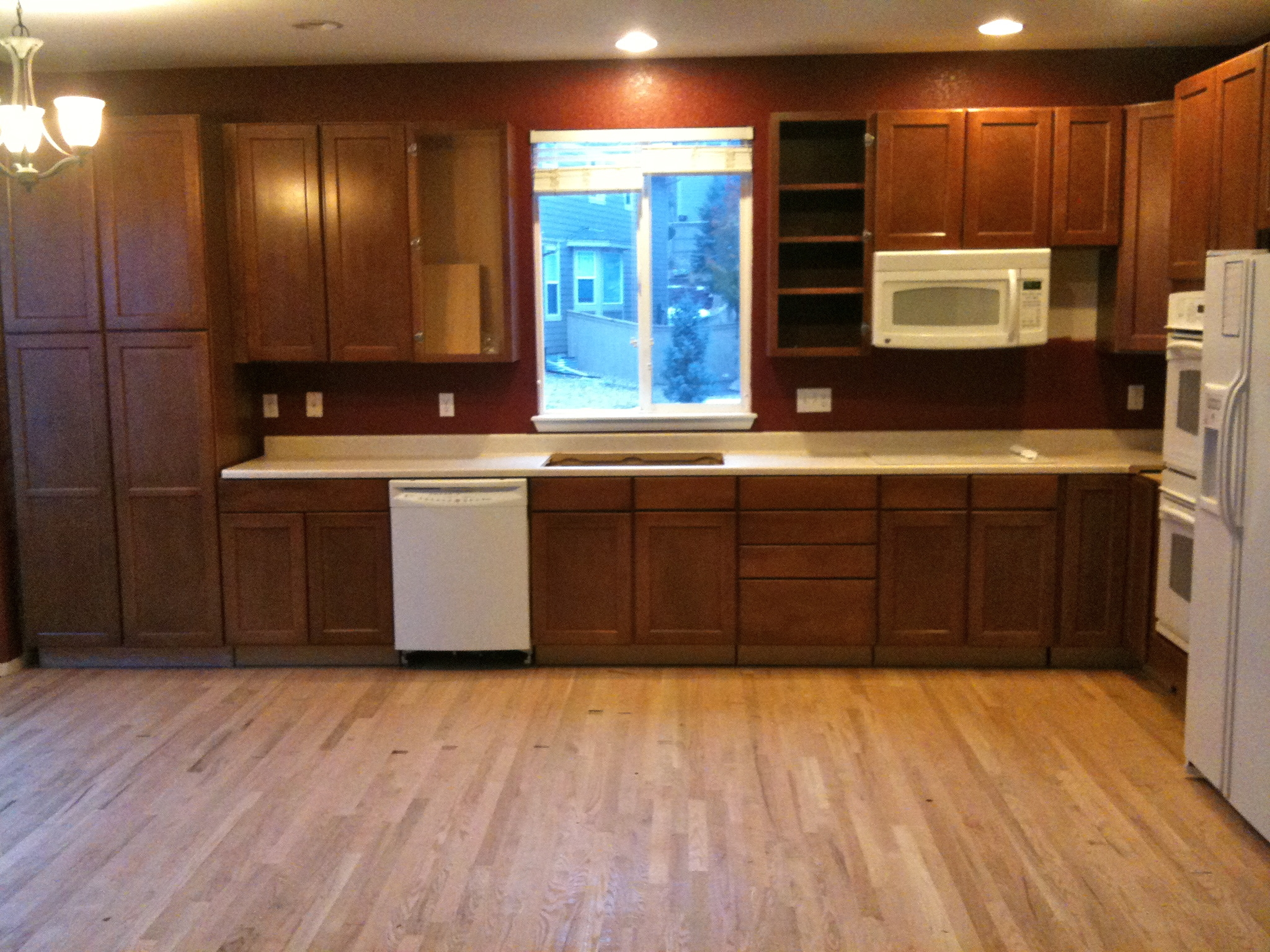 Staining Kitchen Cabinets Before And After Pictures