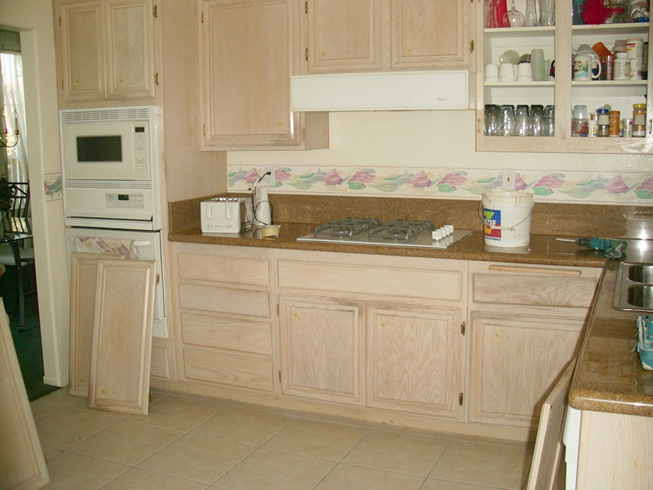 White Washed Oak Kitchen Cabinets