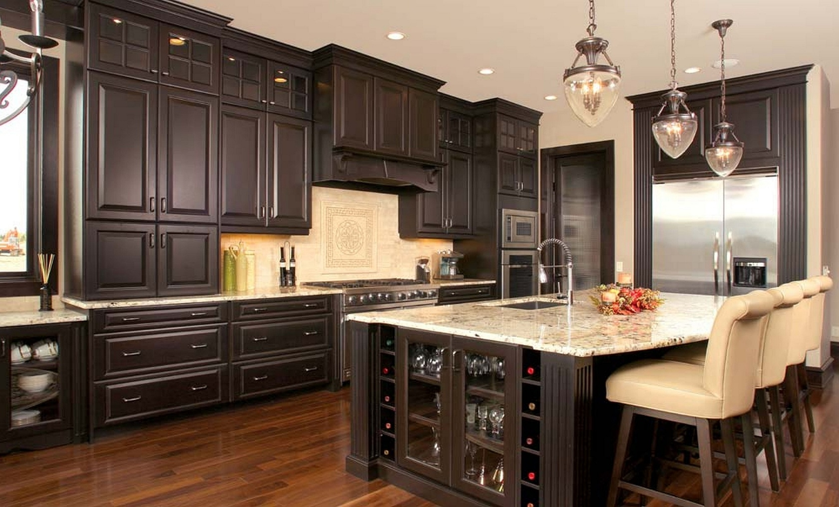 Permalink to Black Kitchen Cabinets Pictures Distressed