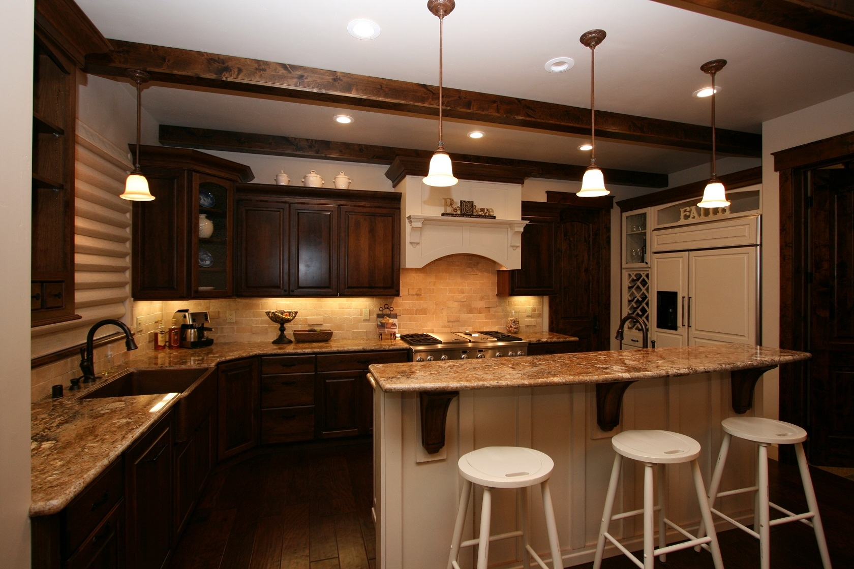 Brown Colored Kitchen Cabinets