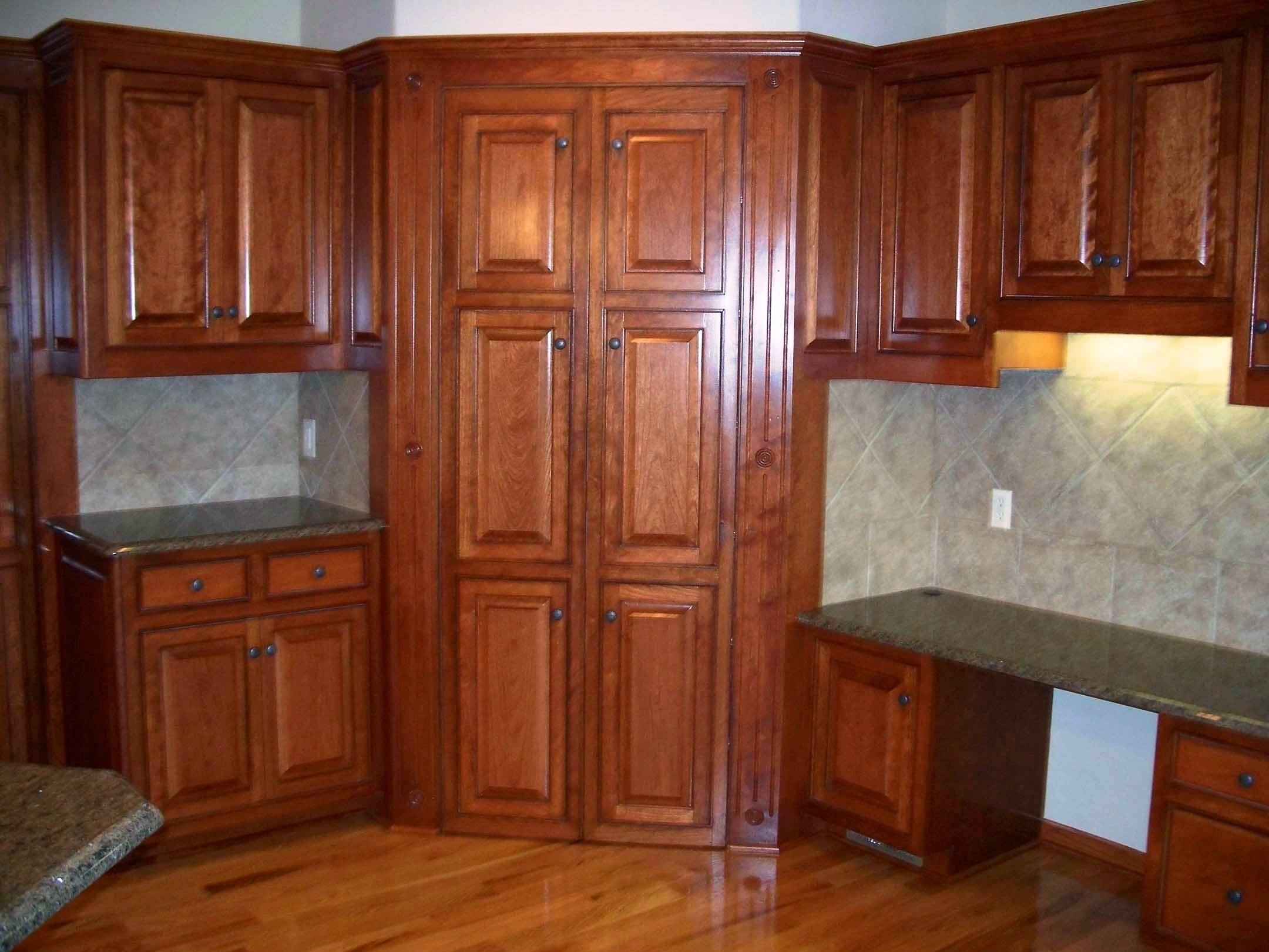 Cherry Wood Kitchen Pantry Cabinet