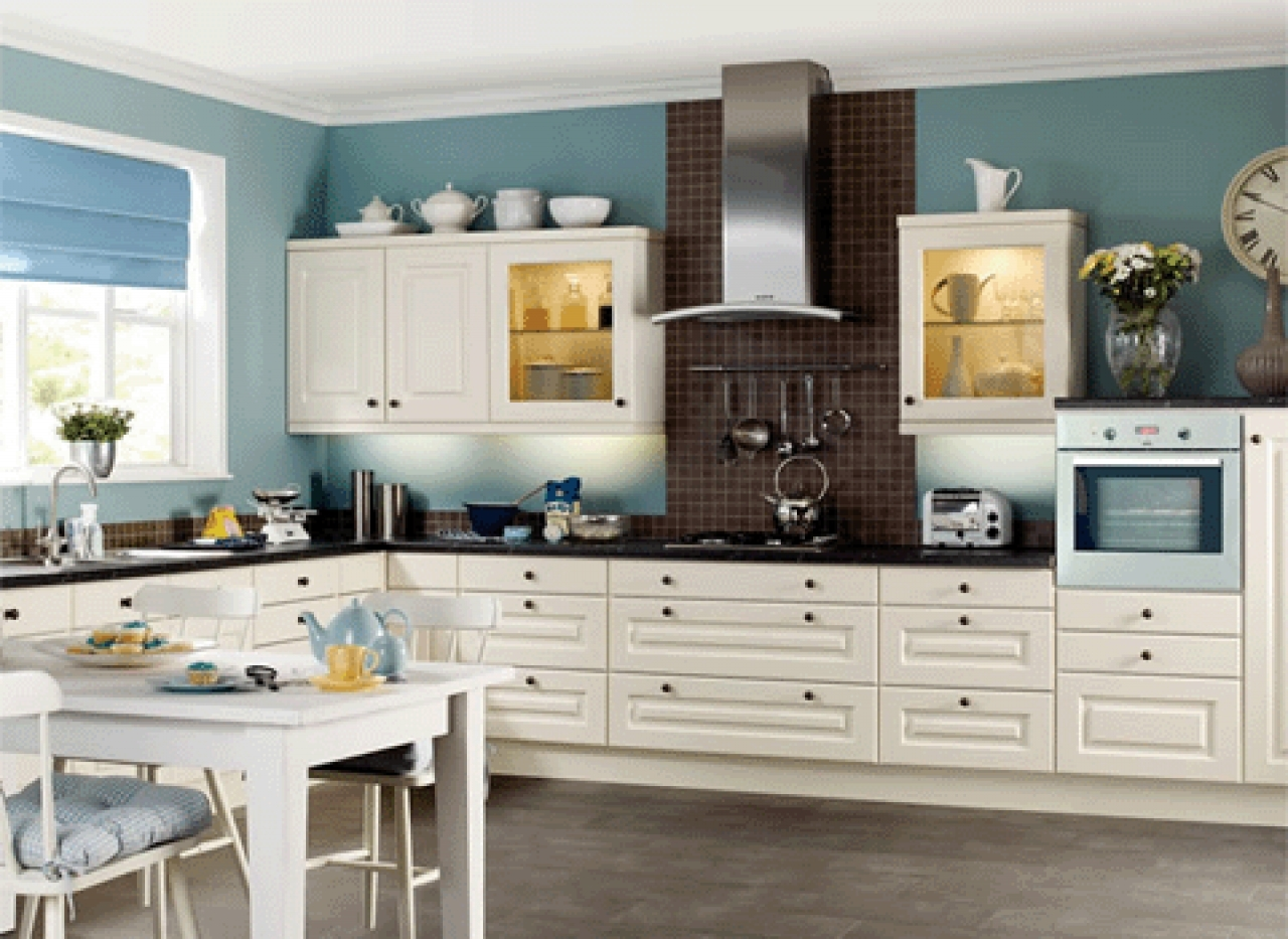 Color Palette For Kitchen With White Cabinets