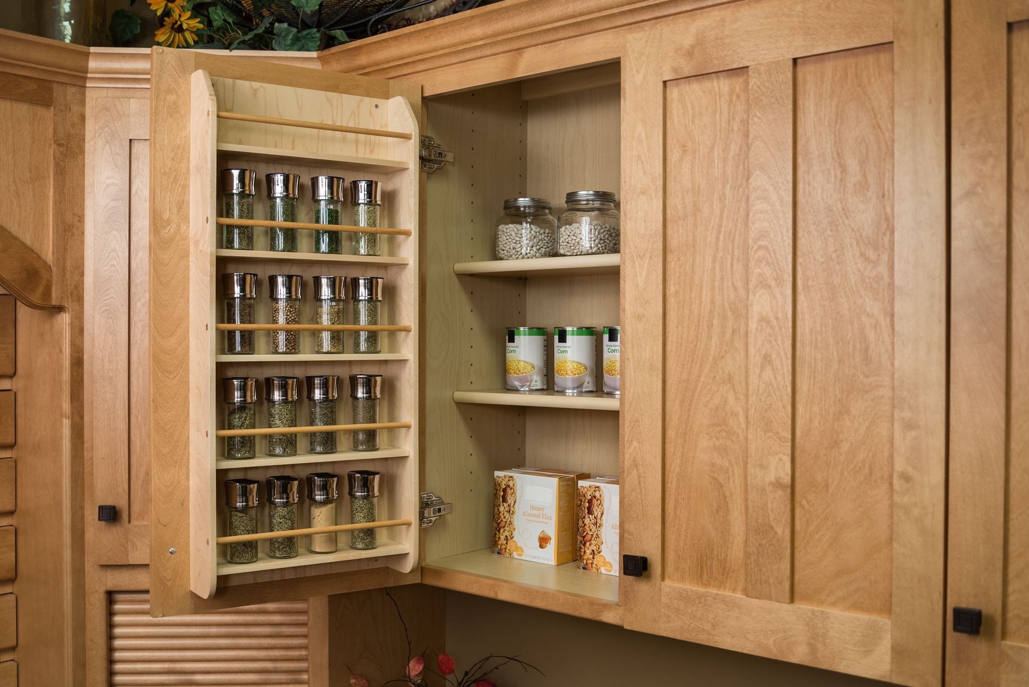 Door Mounted Spice Racks Kitchen Cabinets