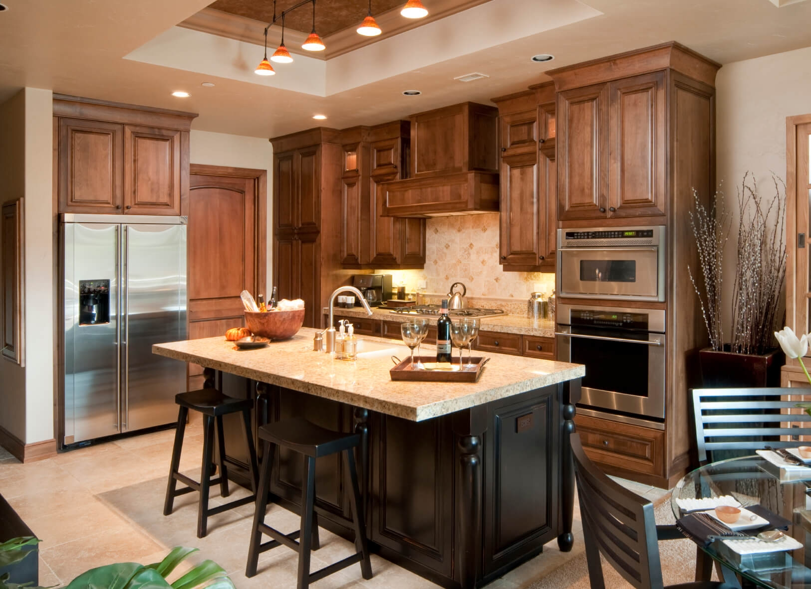 Dream Kitchen With Cherry Cabinets