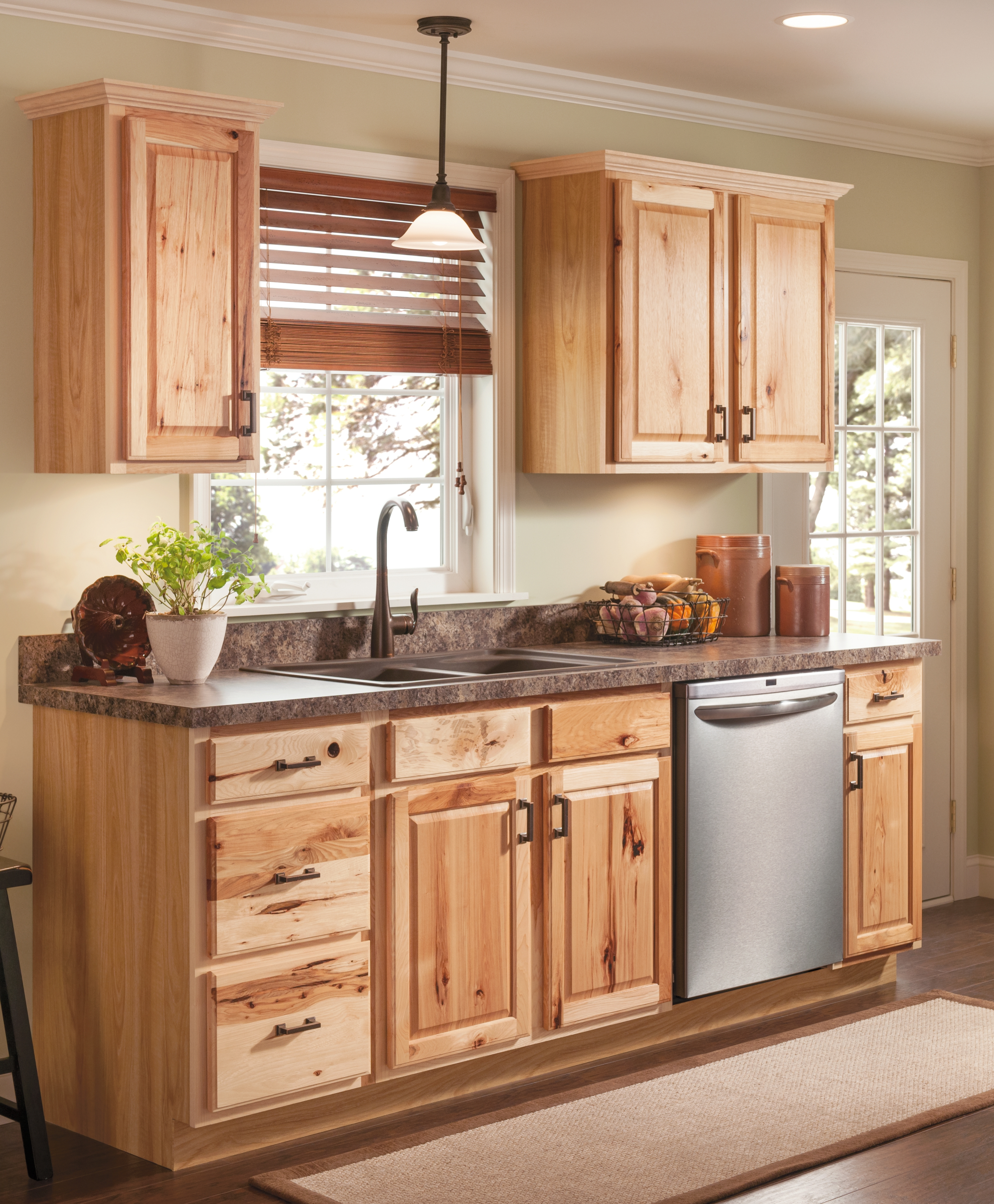 Finished Hickory Pantry Kitchen Wall Cabinet