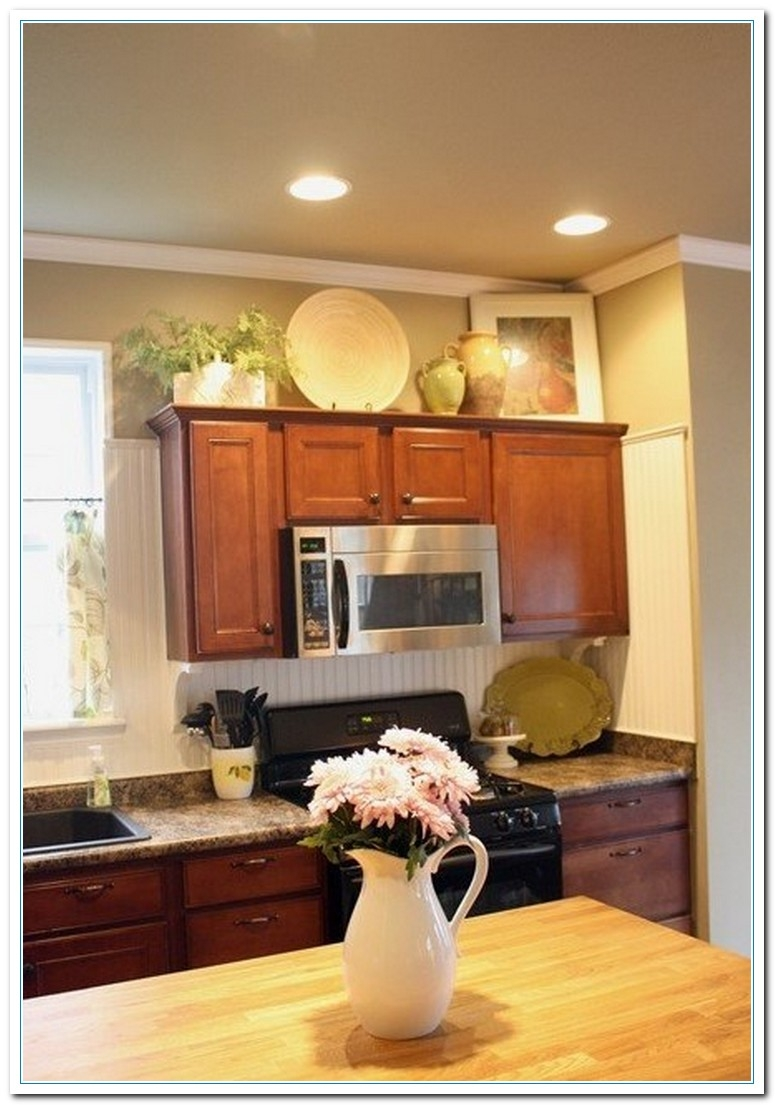 Permalink to Images For Decorating Above Kitchen Cabinets