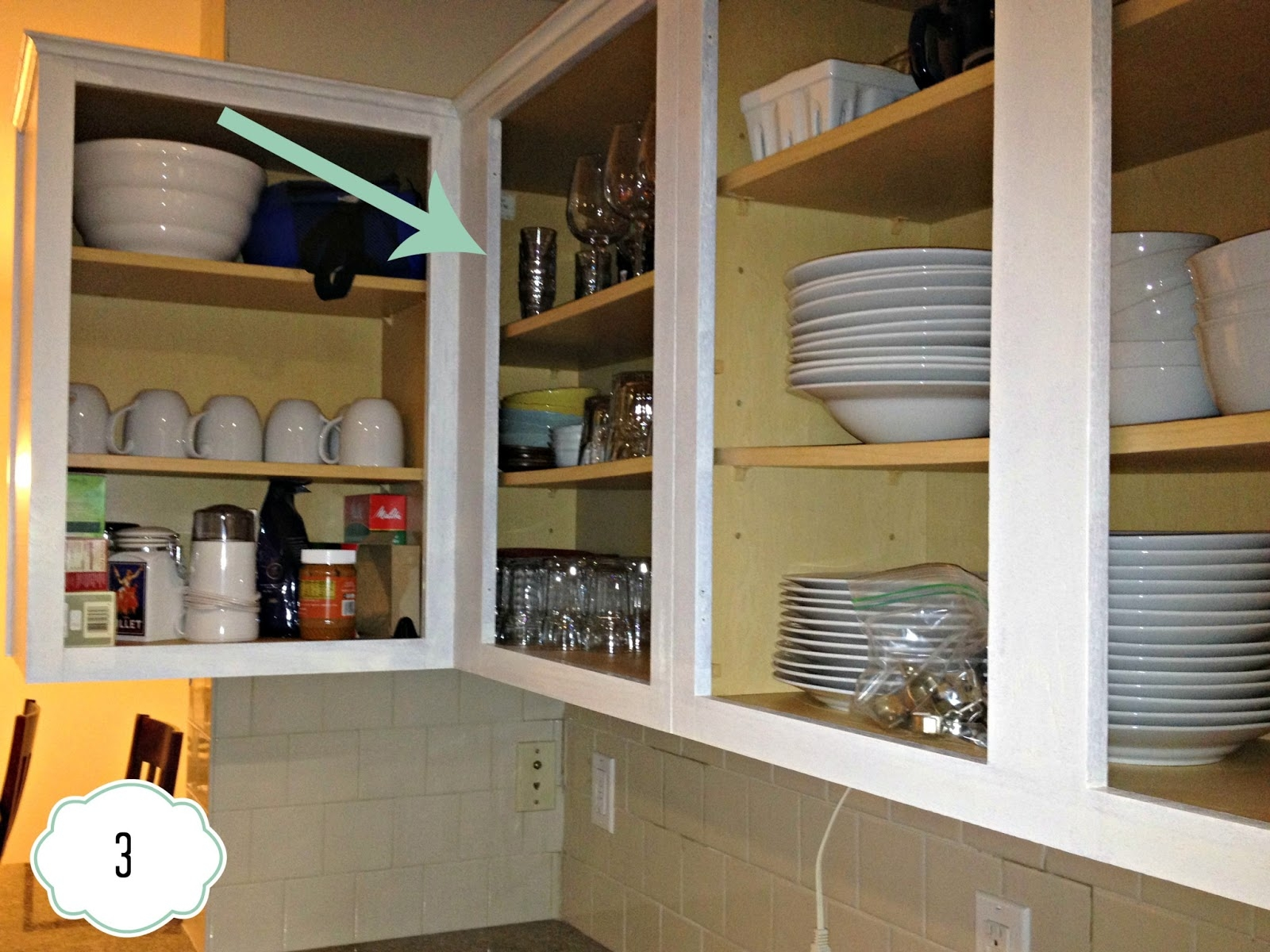 Inside Of White Kitchen Cabinets