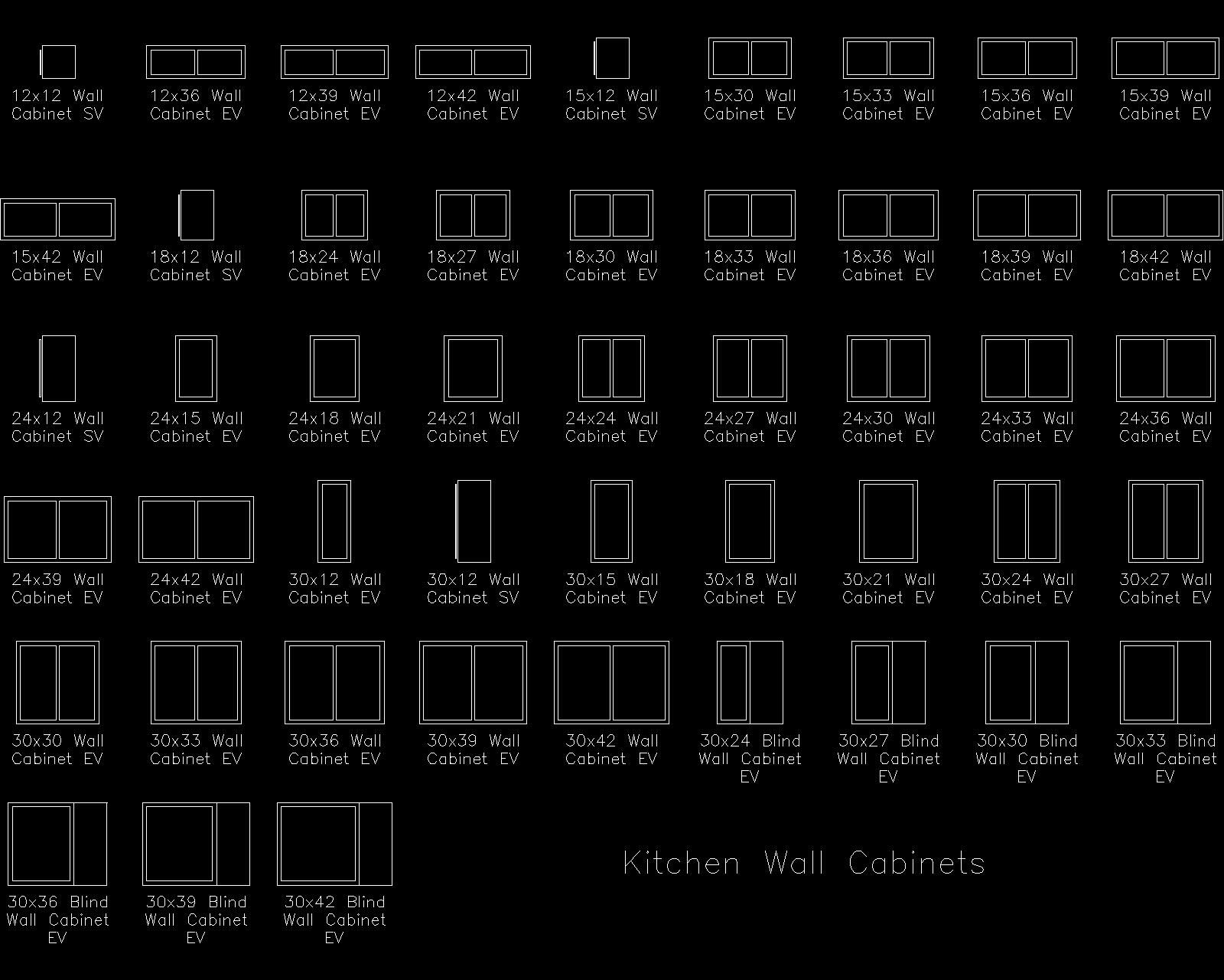 Kitchen Cabinet Cad Drawings
