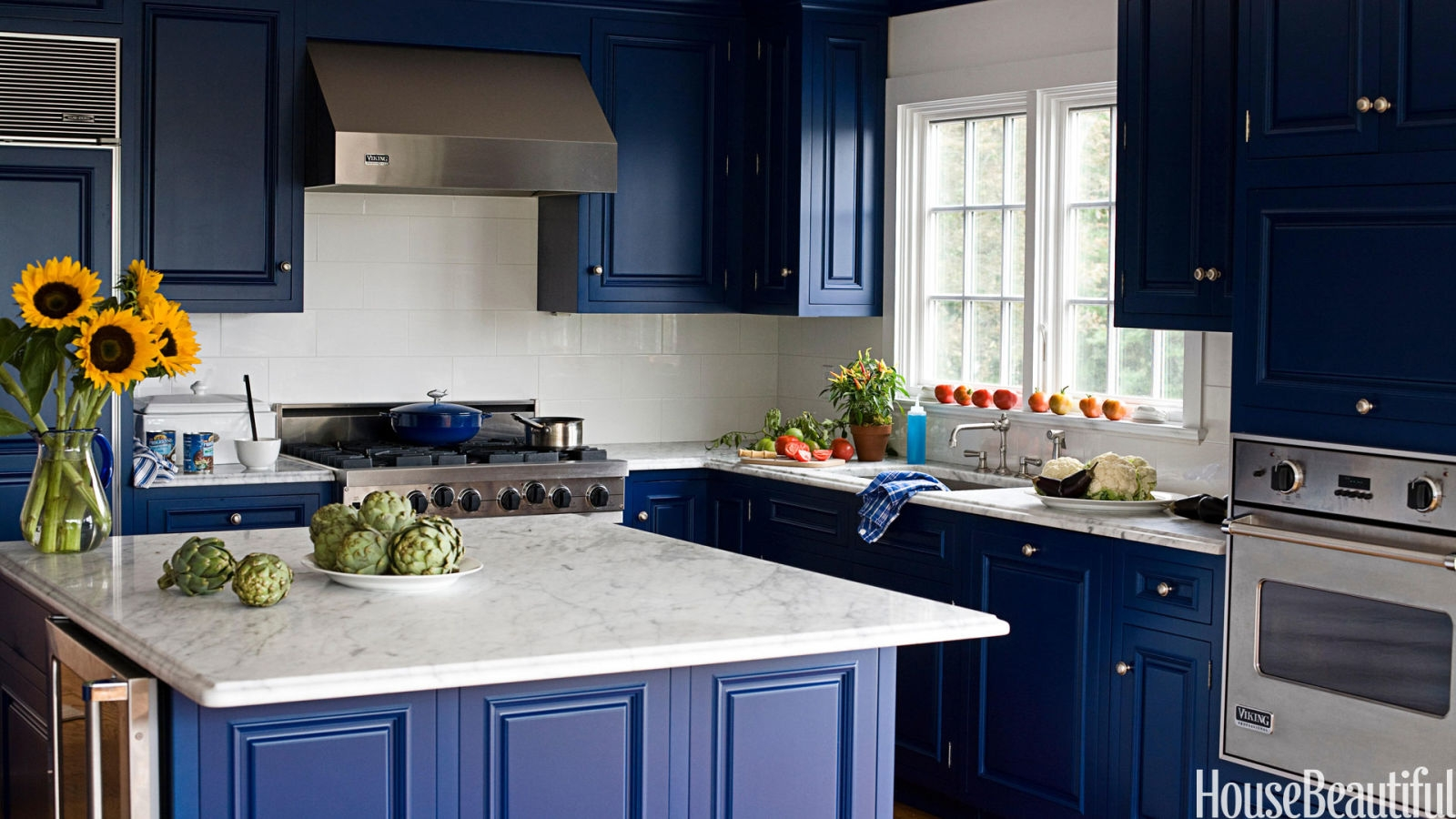 Kitchen Cabinets Blue Color