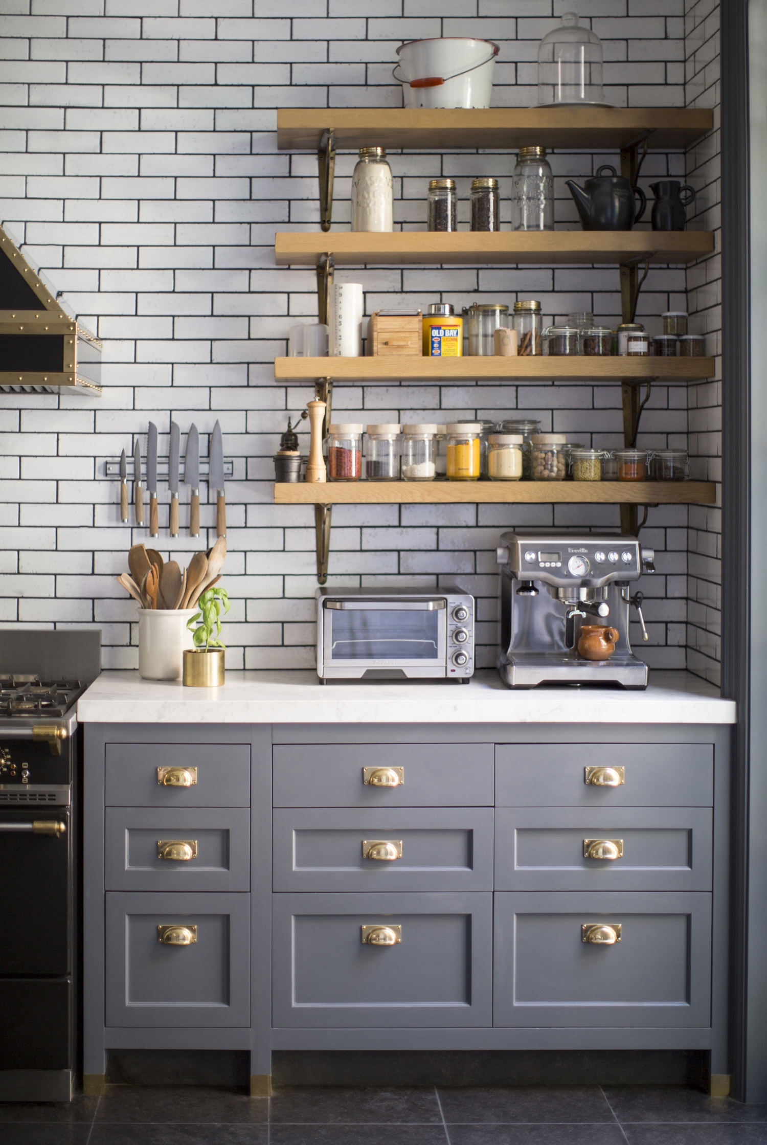 Kitchen Cabinets Gray Blue