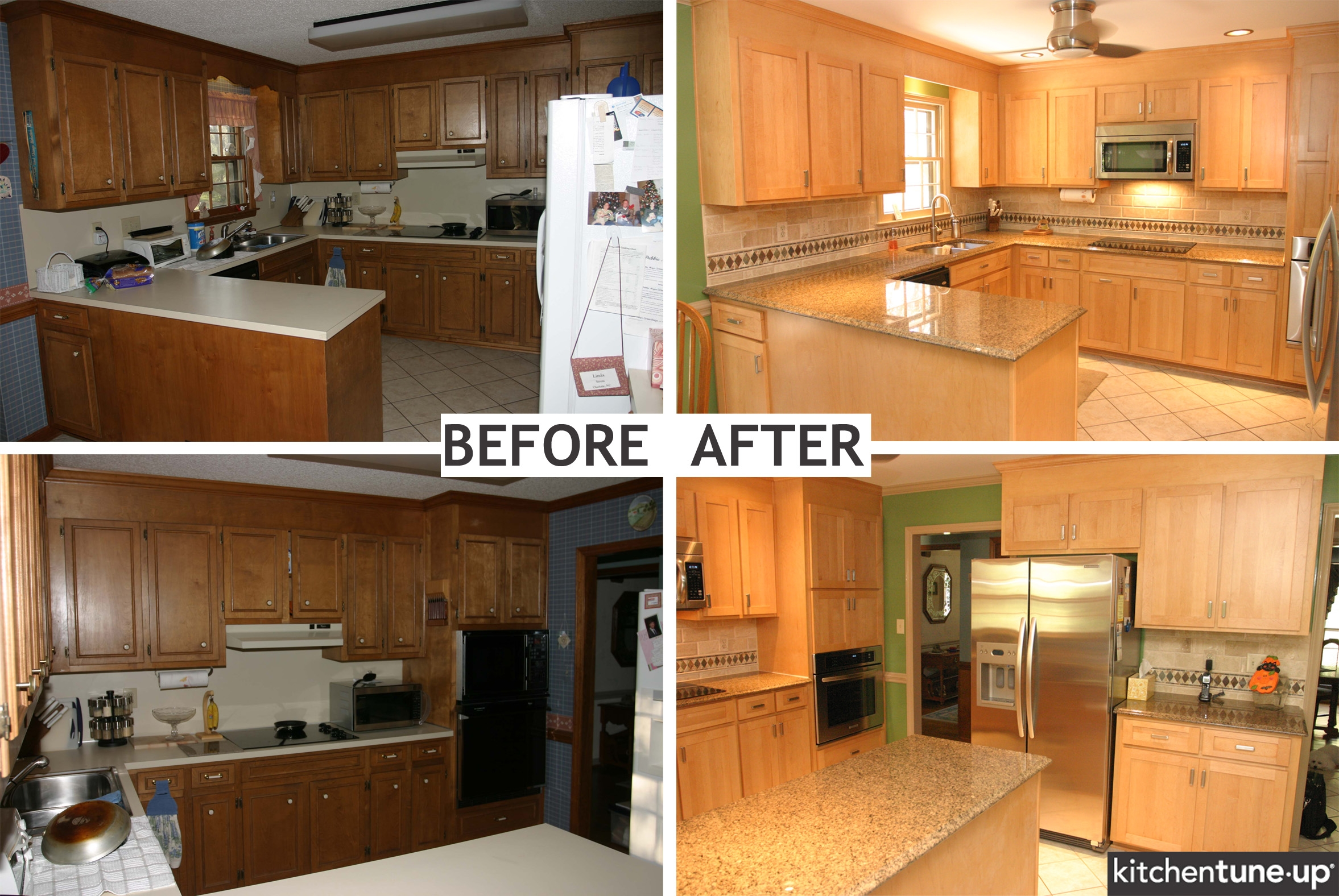 Kitchen Cabinets Refacing Before And After