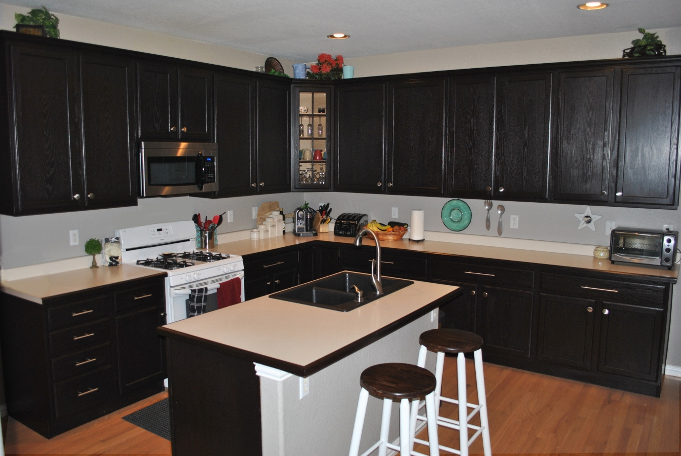 Kitchen Cabinets Stained Black