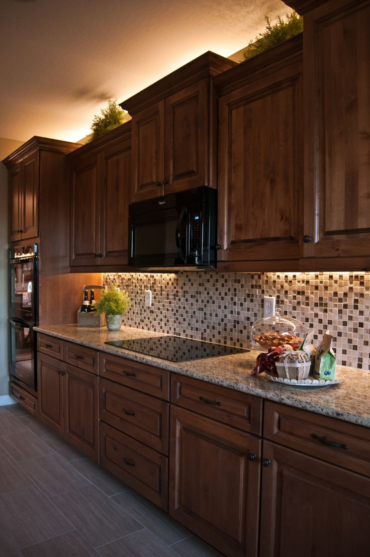 Kitchen Cabinets With Lights On Top