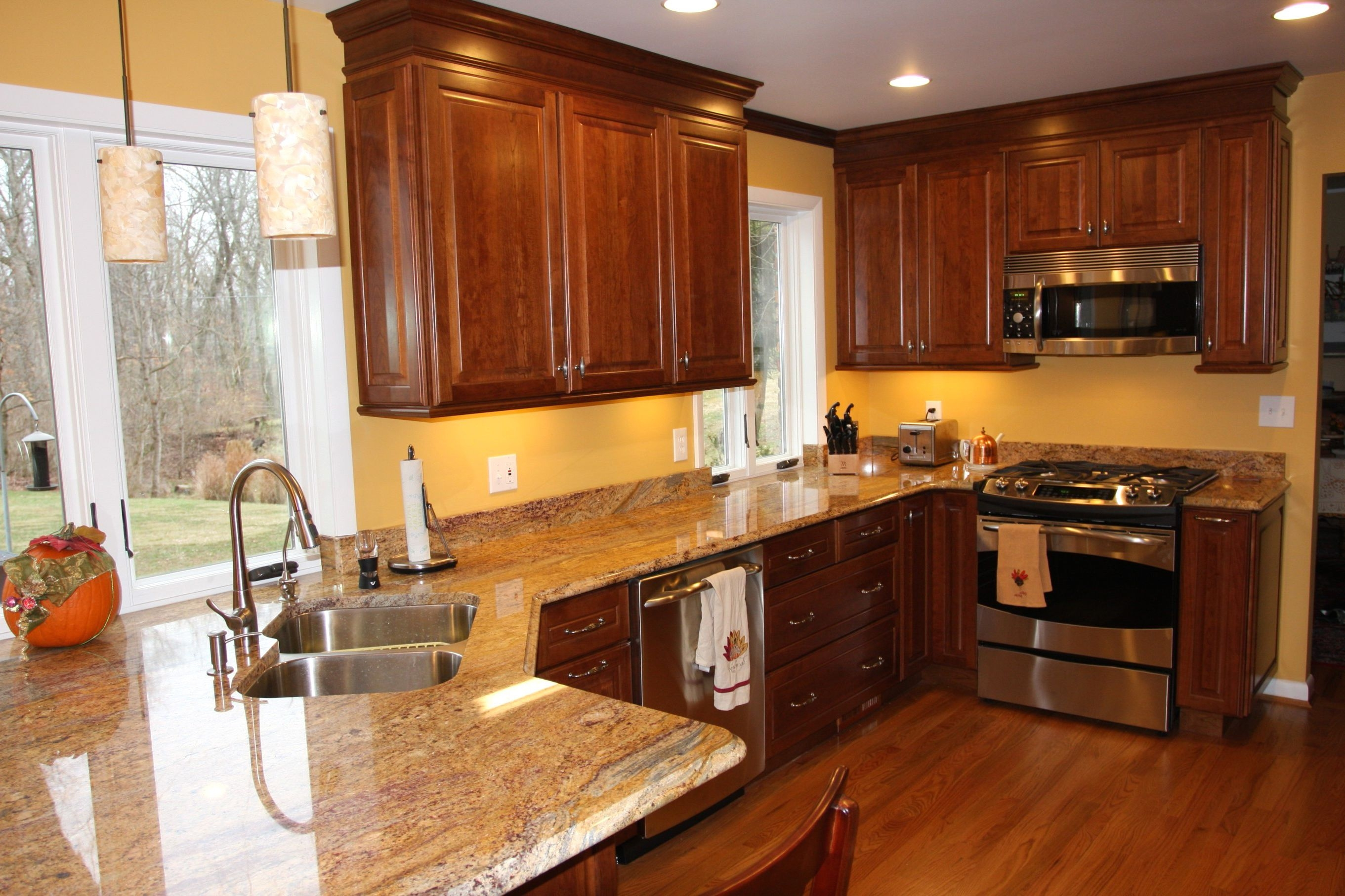 Permalink to Kitchen Color Schemes With Dark Oak Cabinets