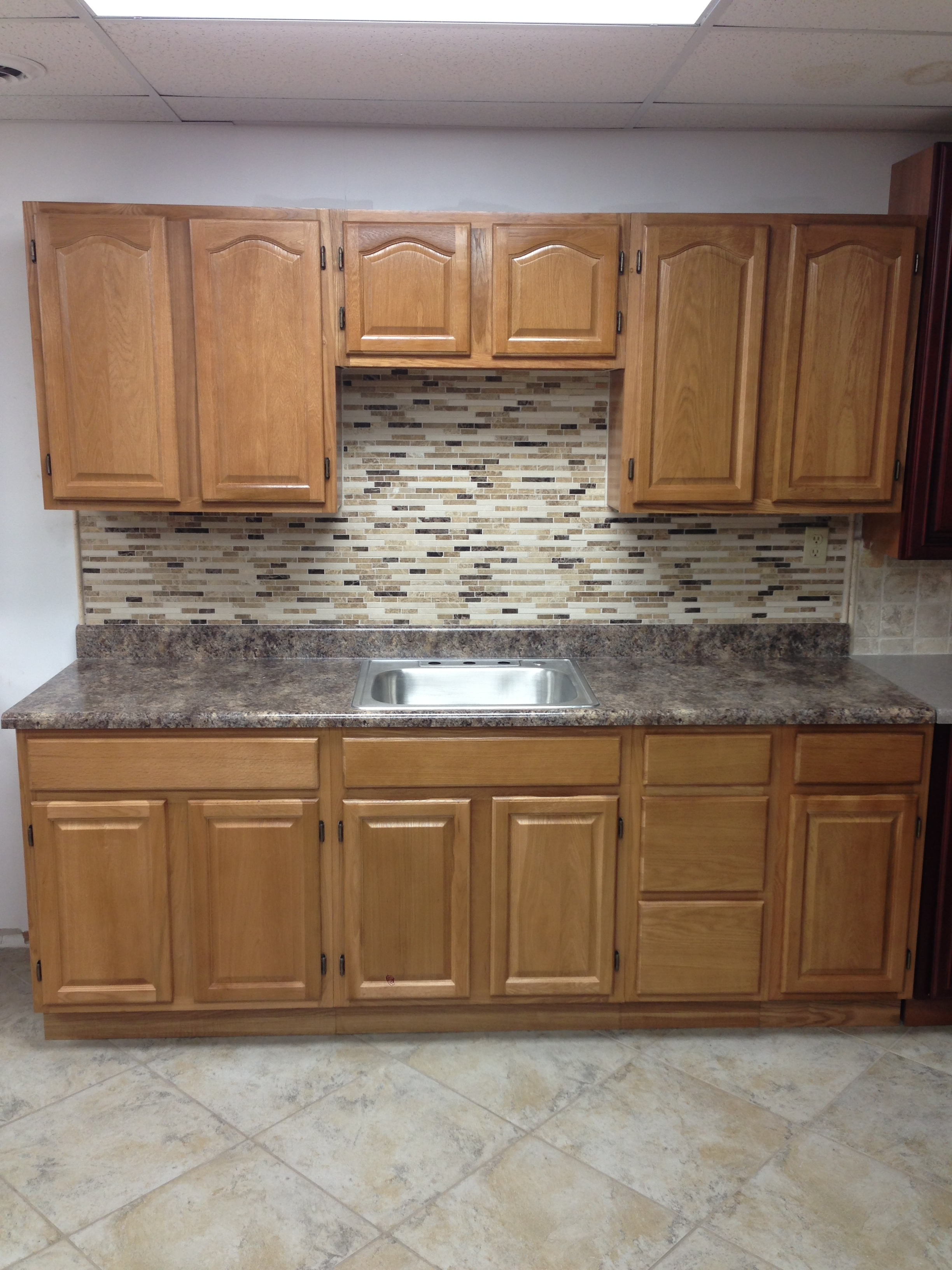 Kitchen Flooring With Honey Oak Cabinets
