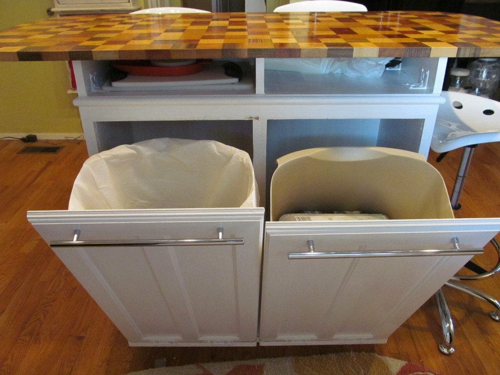 Kitchen Trash Cabinet Island