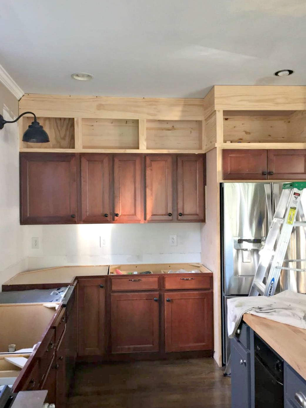 Kitchen With Cabinets To Ceiling