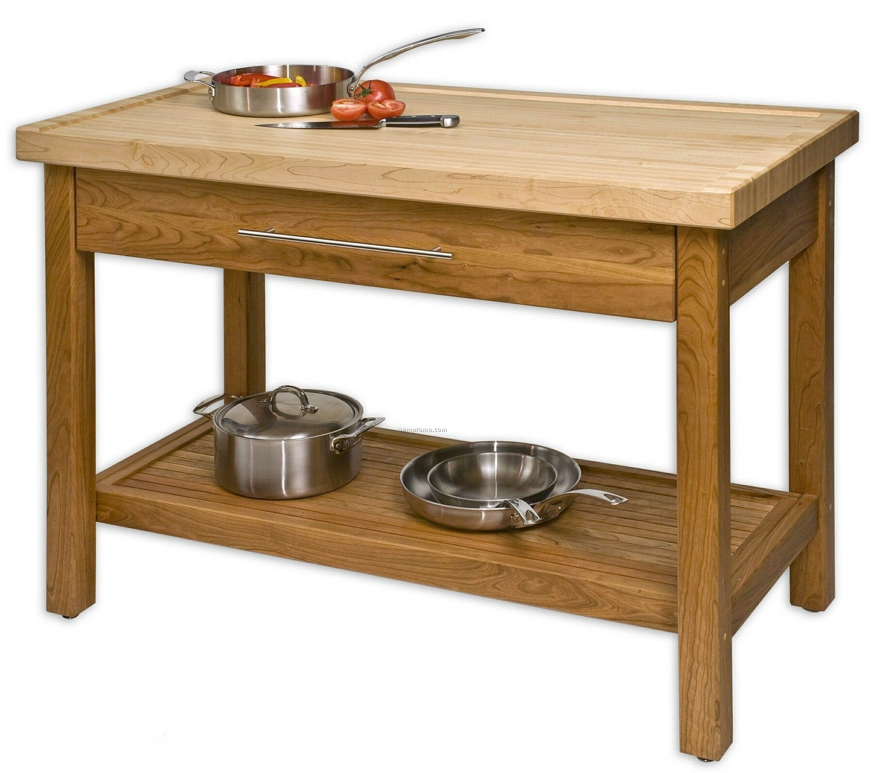 Kitchen Work Table With Cabinets