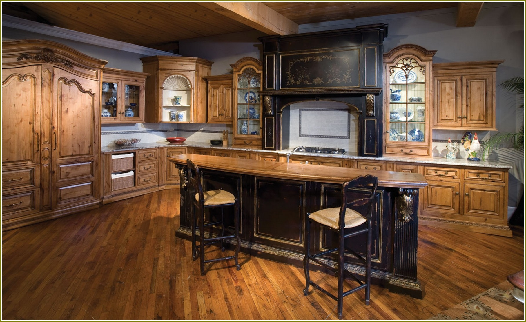 Knotty Alder Kitchen Cabinet Ideas
