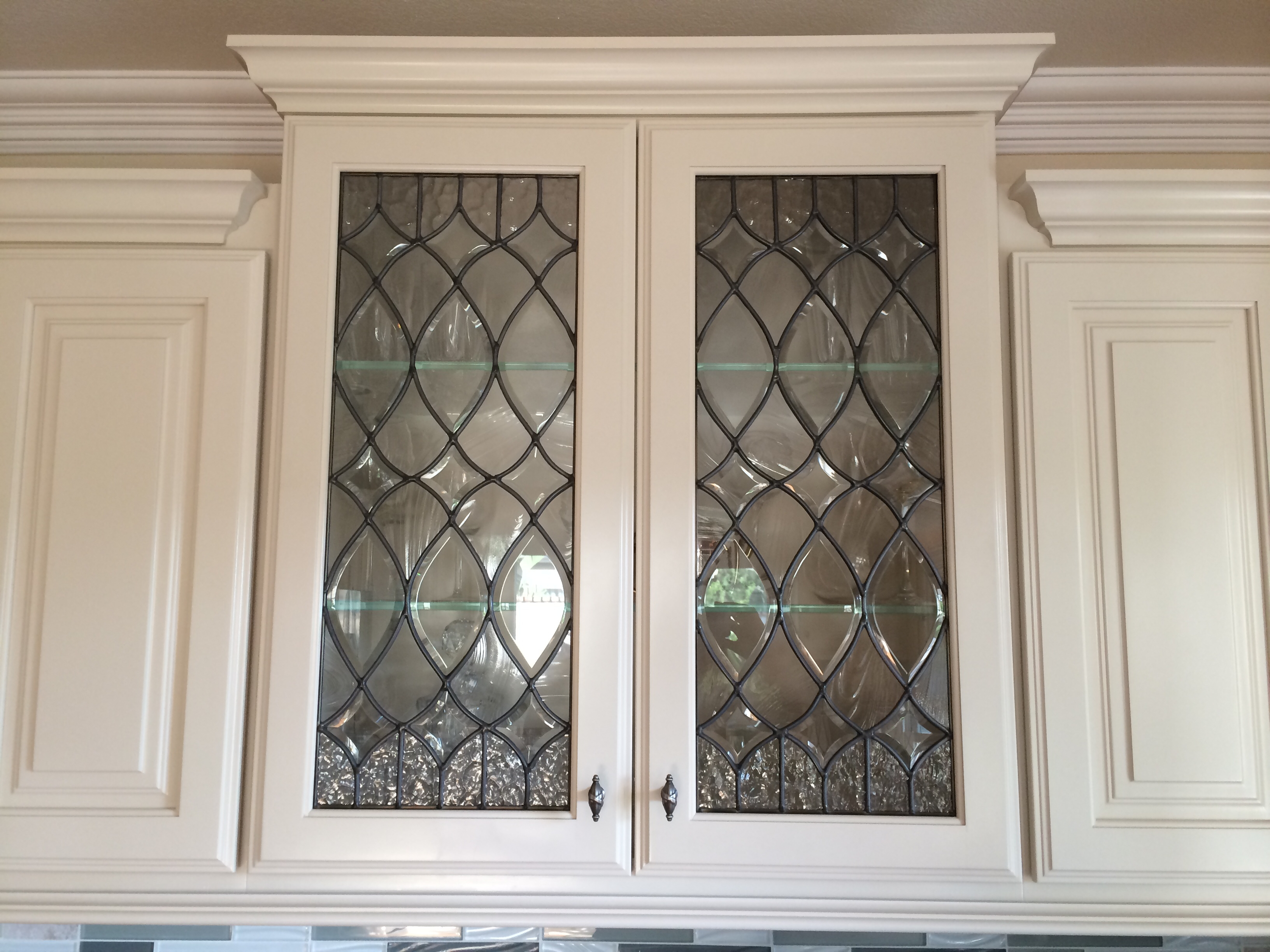 Leaded Glass Windows Kitchen Cabinets