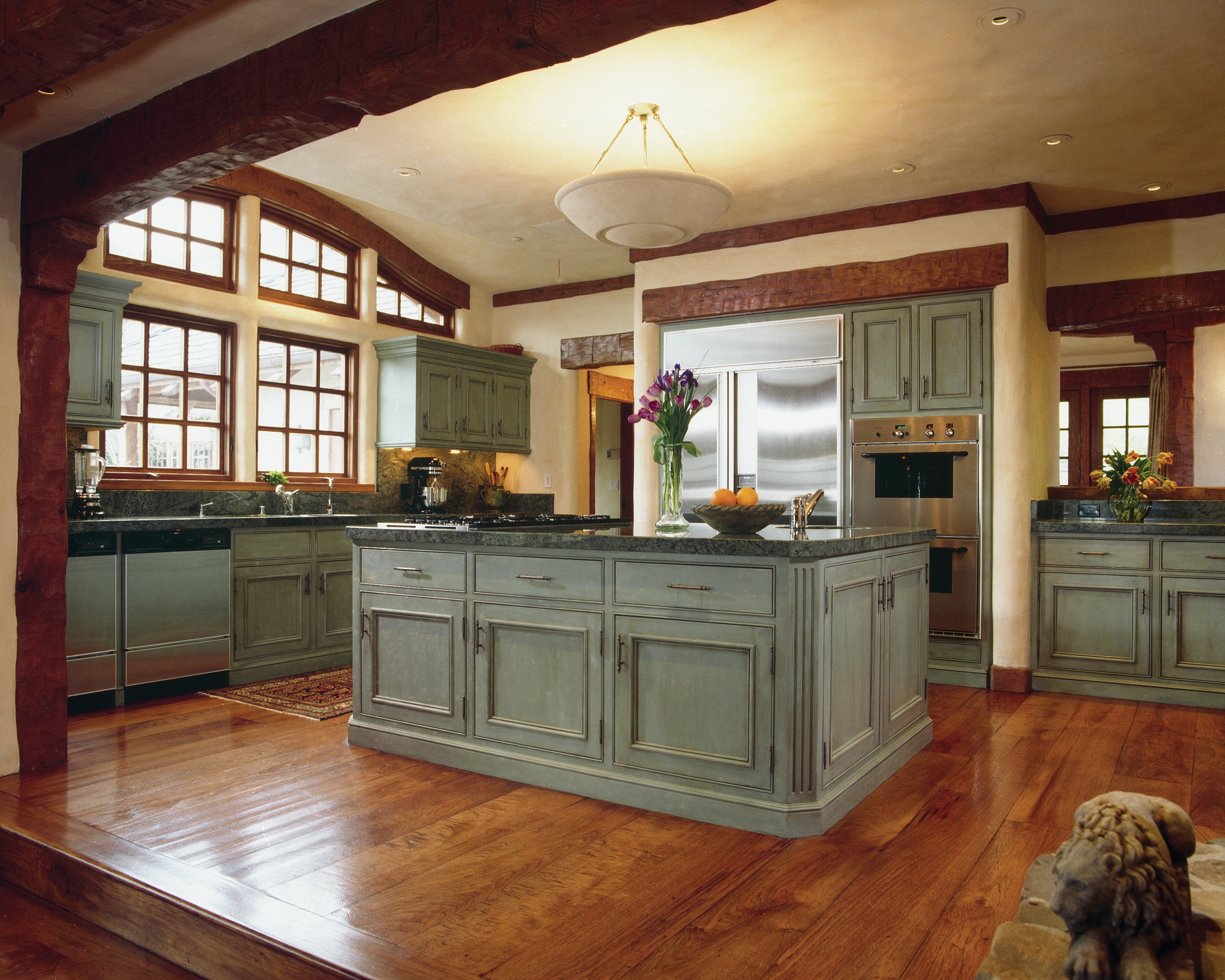Light Blue Distressed Kitchen Cabinets