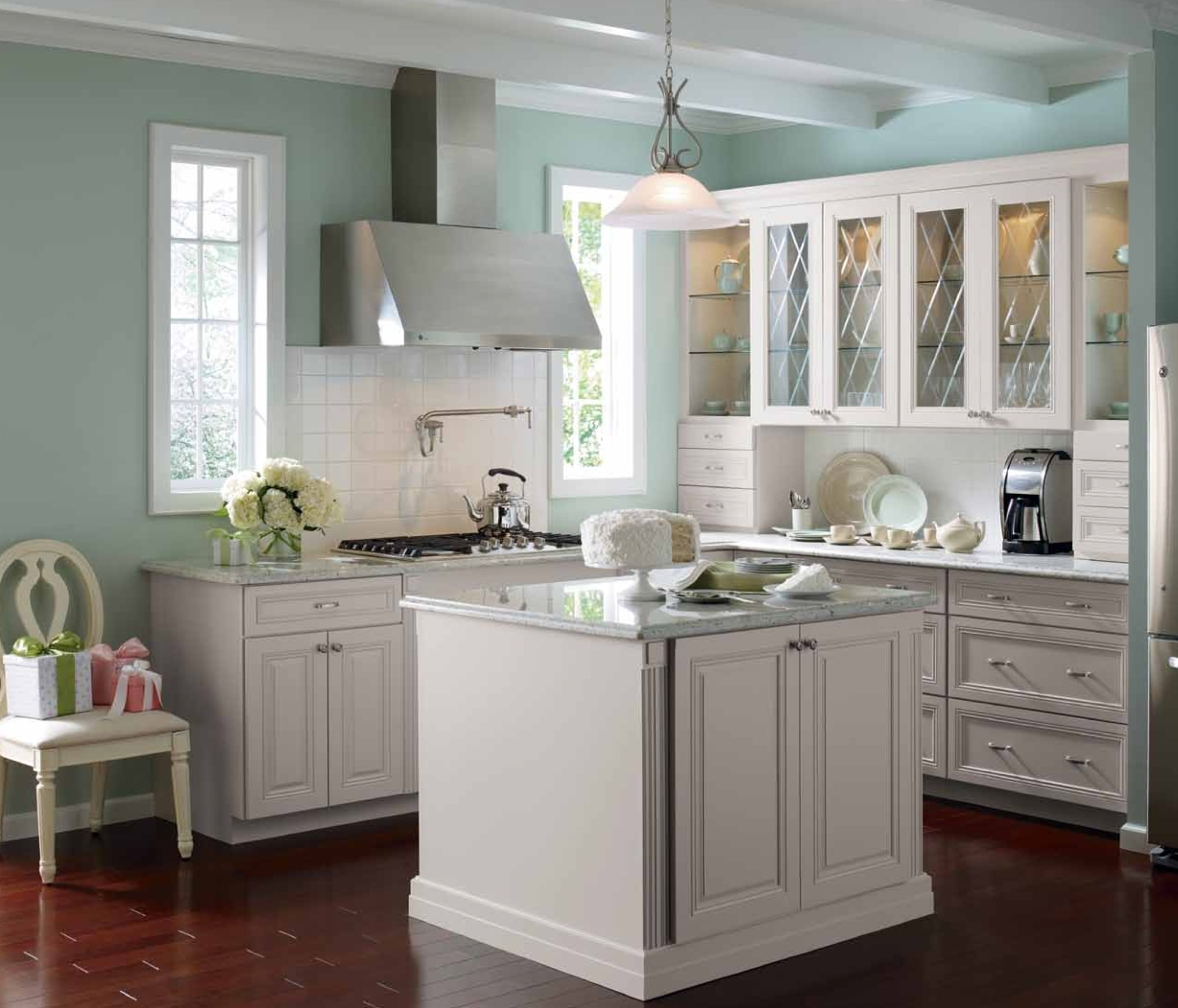 Light Blue Gray Kitchen Cabinets
