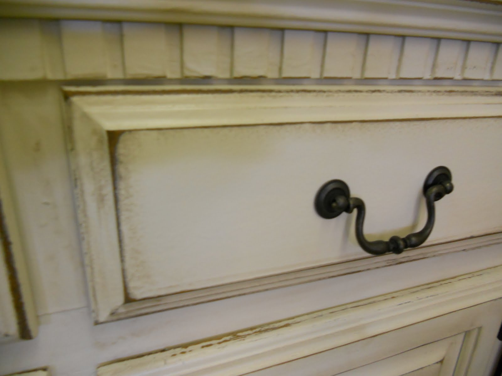 Make Distressed White Kitchen Cabinets