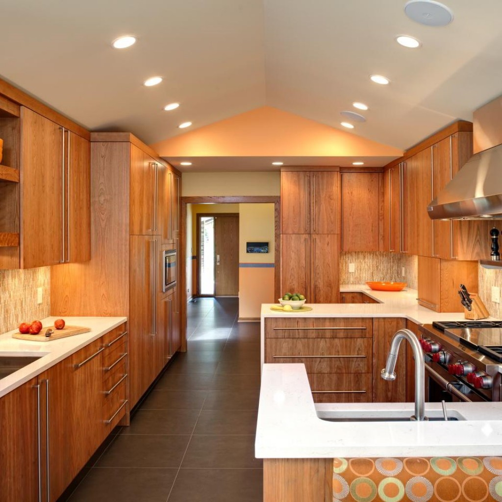 Modern Natural Wood Kitchen Cabinets