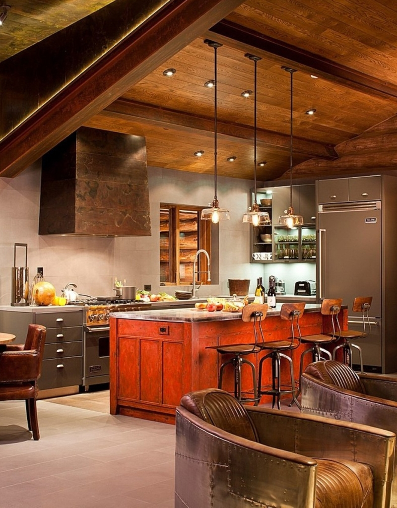 Mountain Cabin Kitchen Cabinets