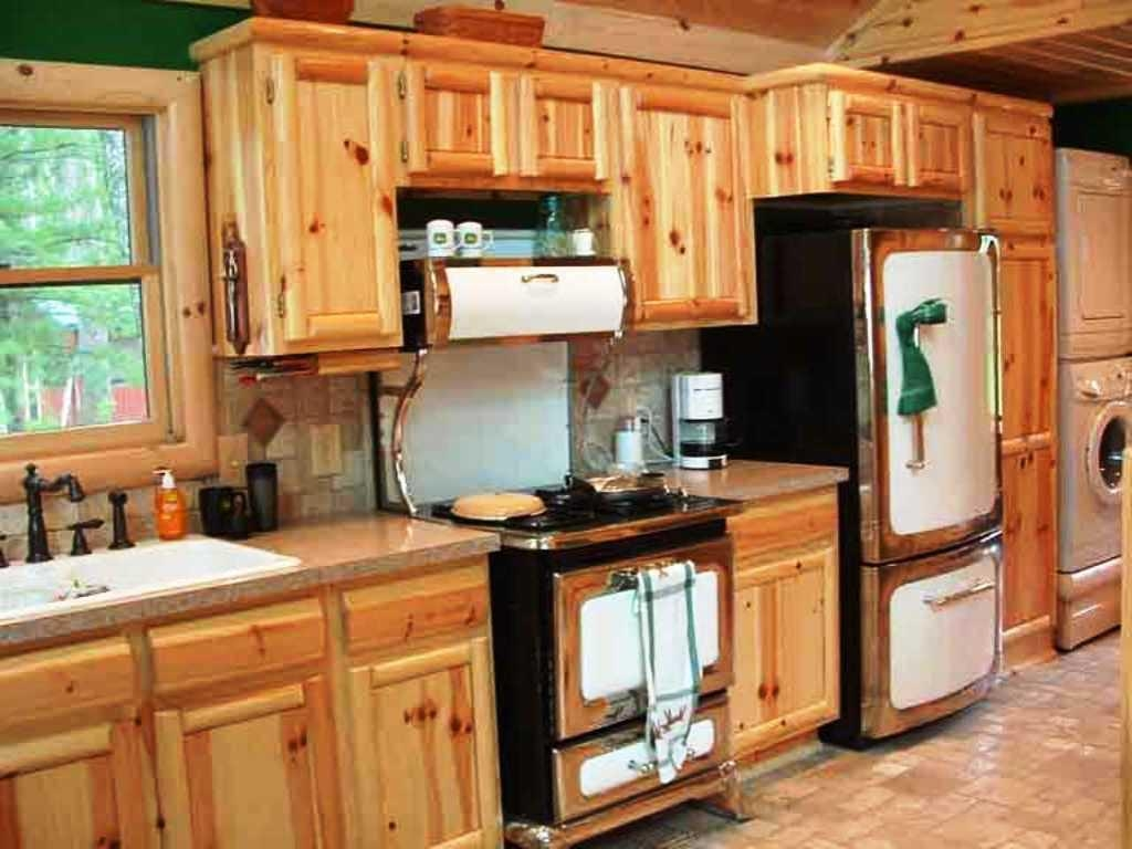 Natural Pine Kitchen Cabinets