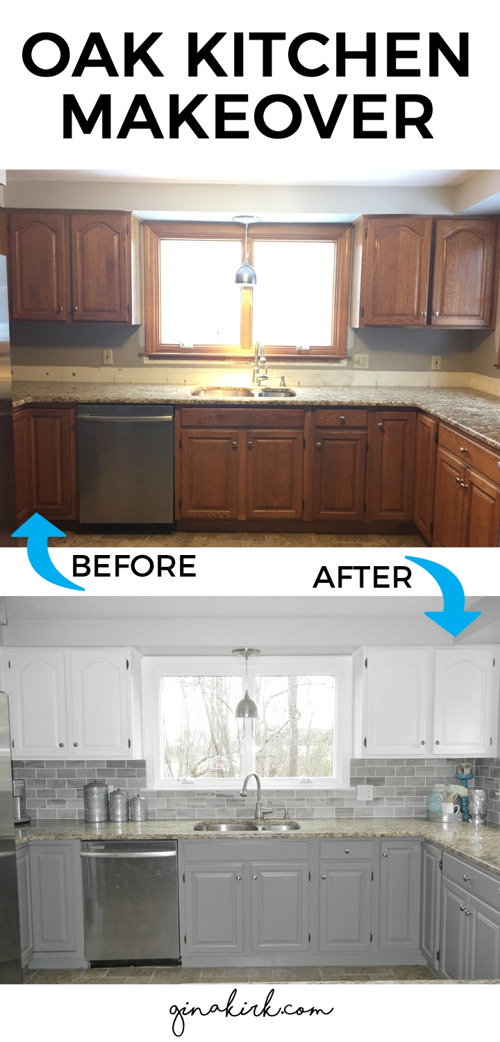 Oak Kitchen Cabinet Makeover