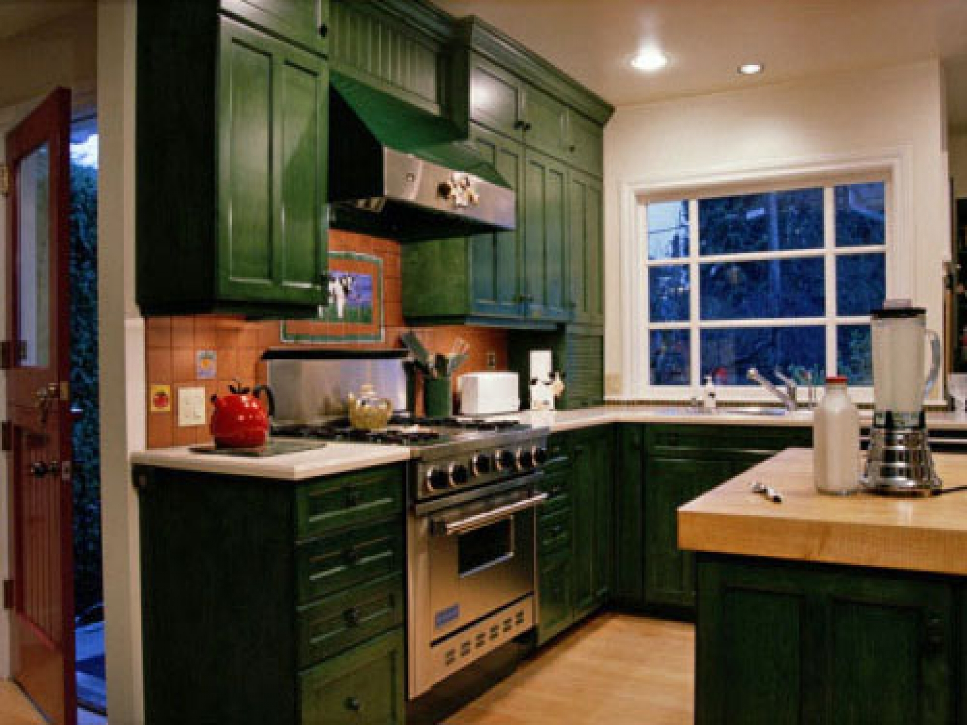 Pictures Hunter Green Kitchen Cabinets