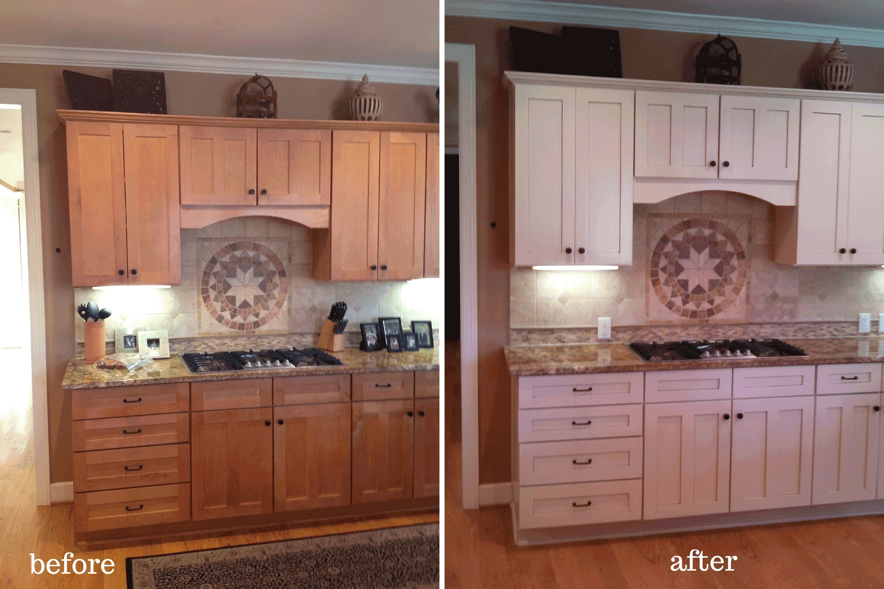 Pictures Of Stained Kitchen Cabinets Before And After
