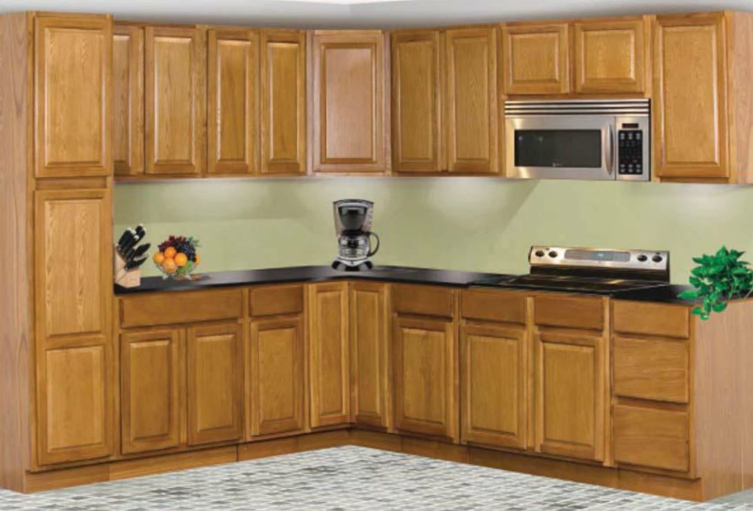 Raised Panel Oak Kitchen Cabinets