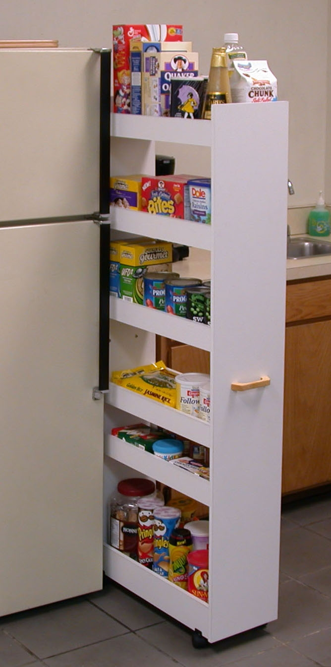 Rolling Kitchen Pantry Cabinet